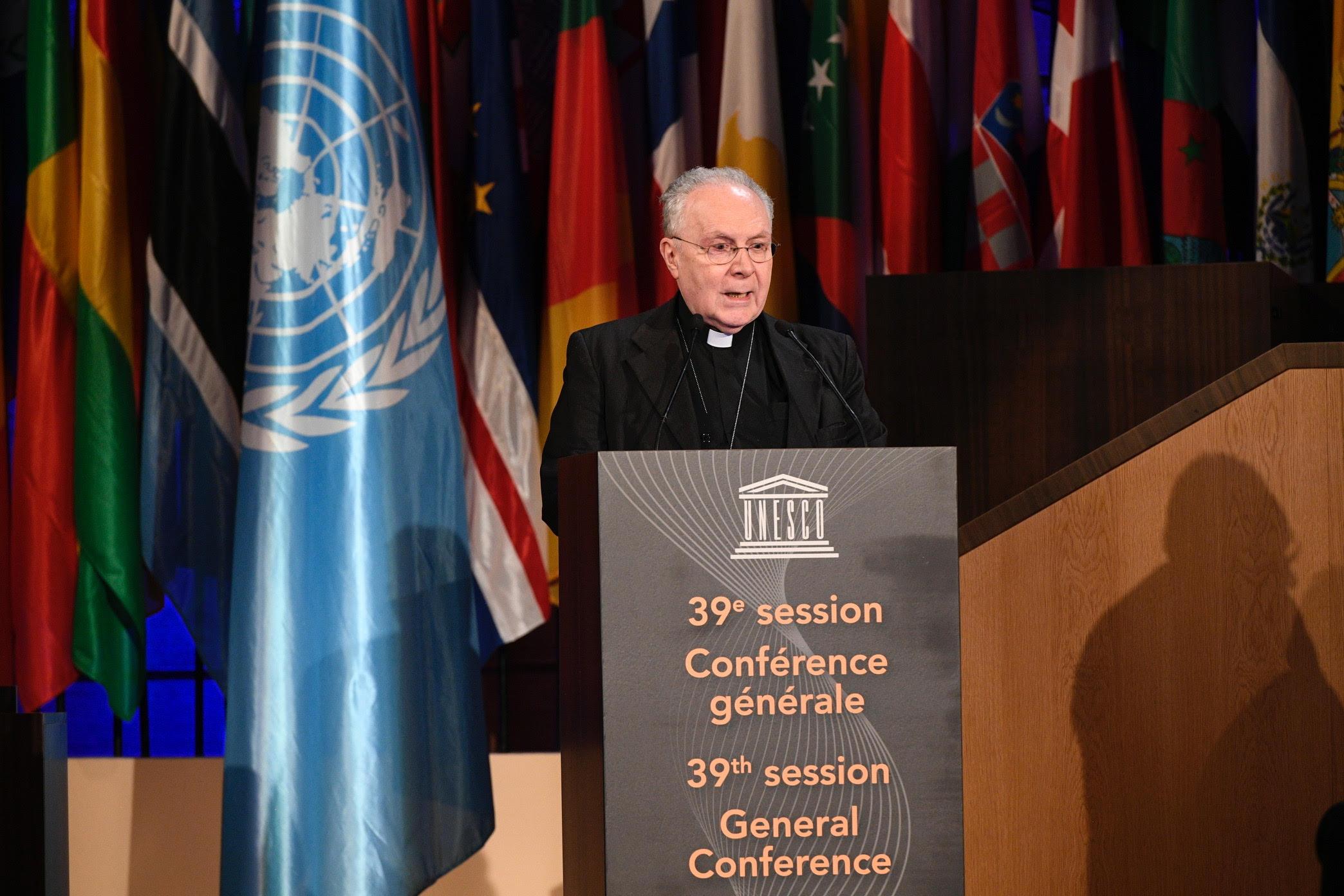 Mgr Francesco Follo 06/11/2017 @ Mission du Saint-Siège à l'UNESCO