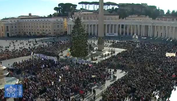 Angélus du 17/12/2017, capture Vatican Media