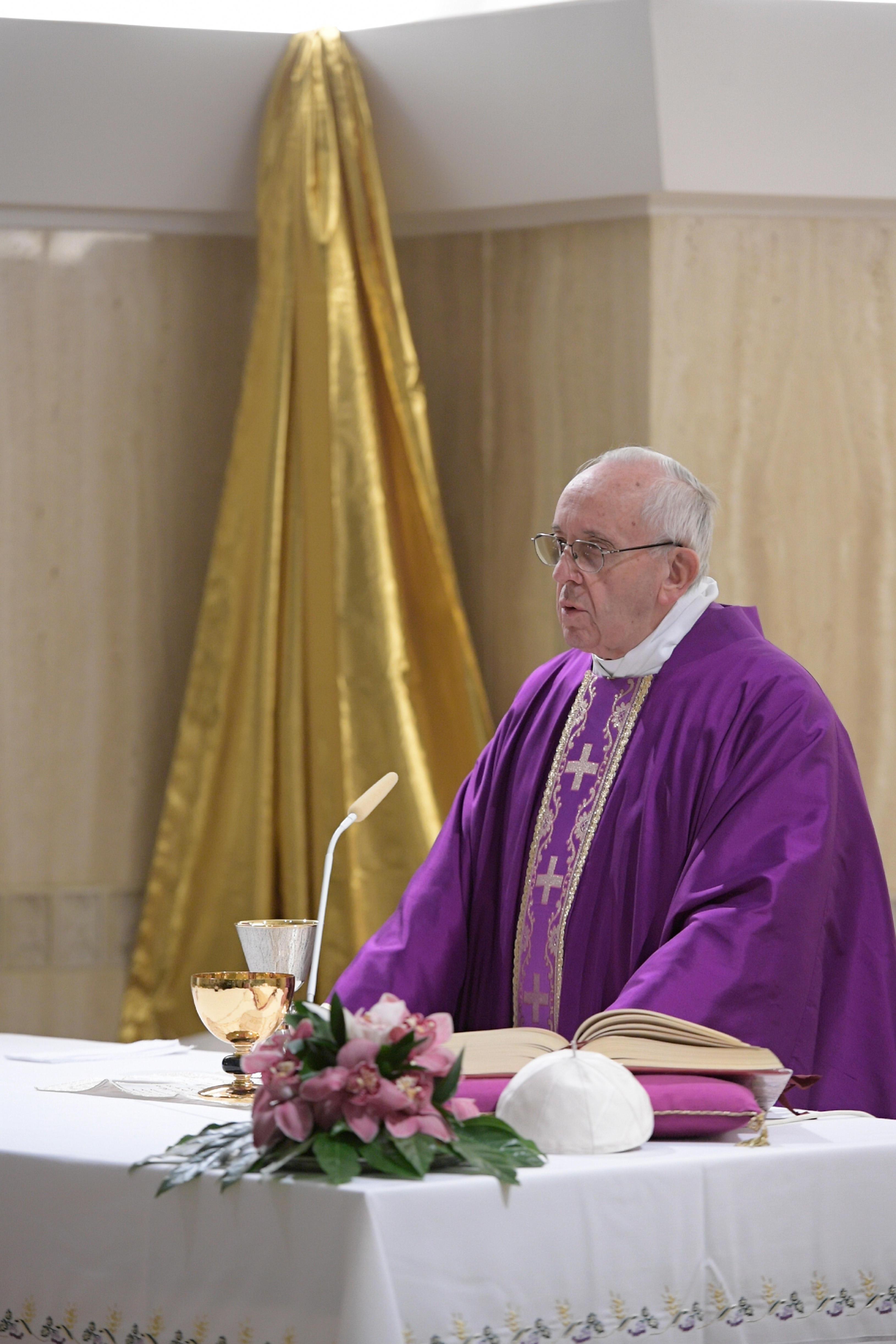 Messe à Sainte-Marthe, 19/12/2017 © L'Osservatore Romano