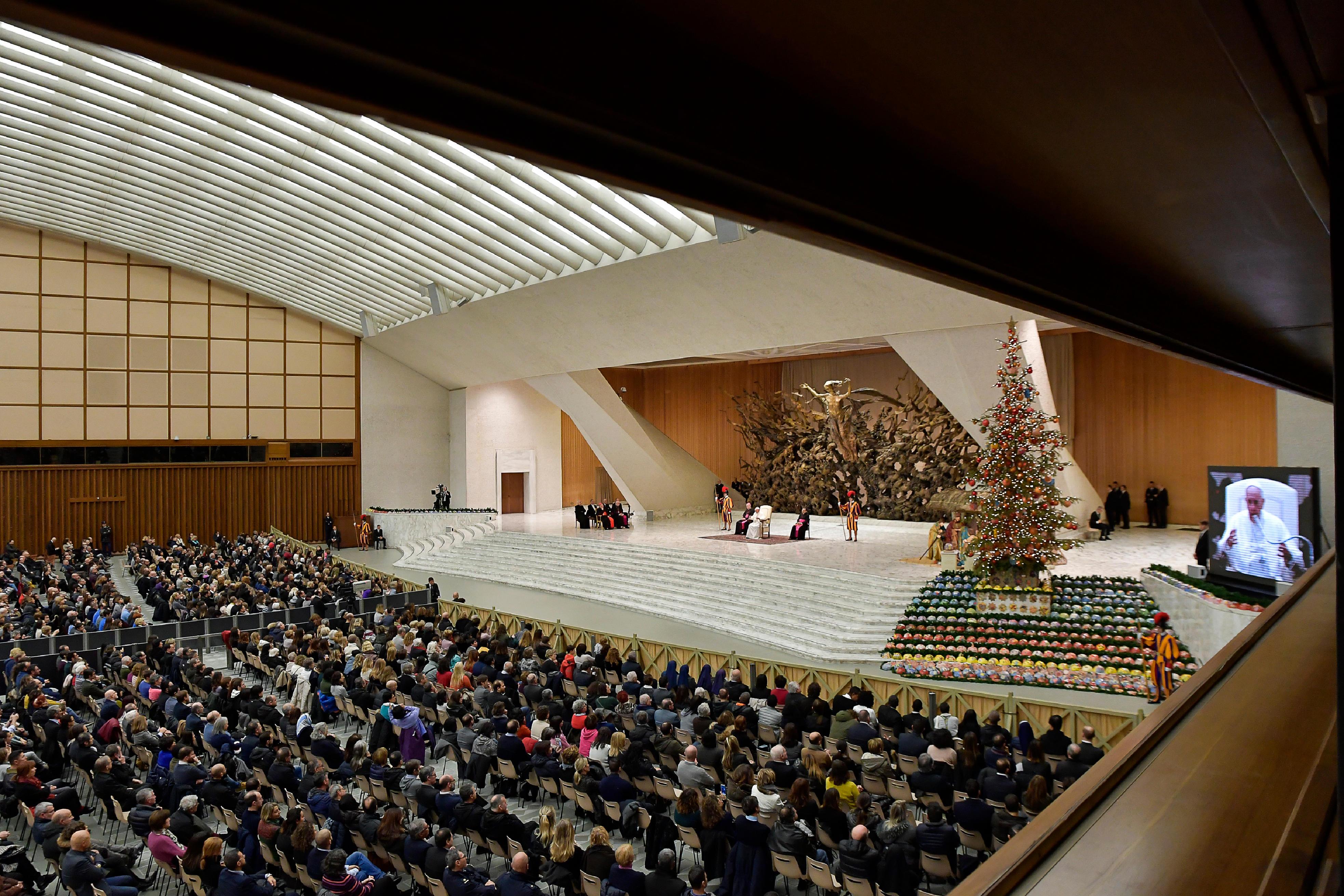 Voeux de Noël aux employés du Vatican © Vatican Media
