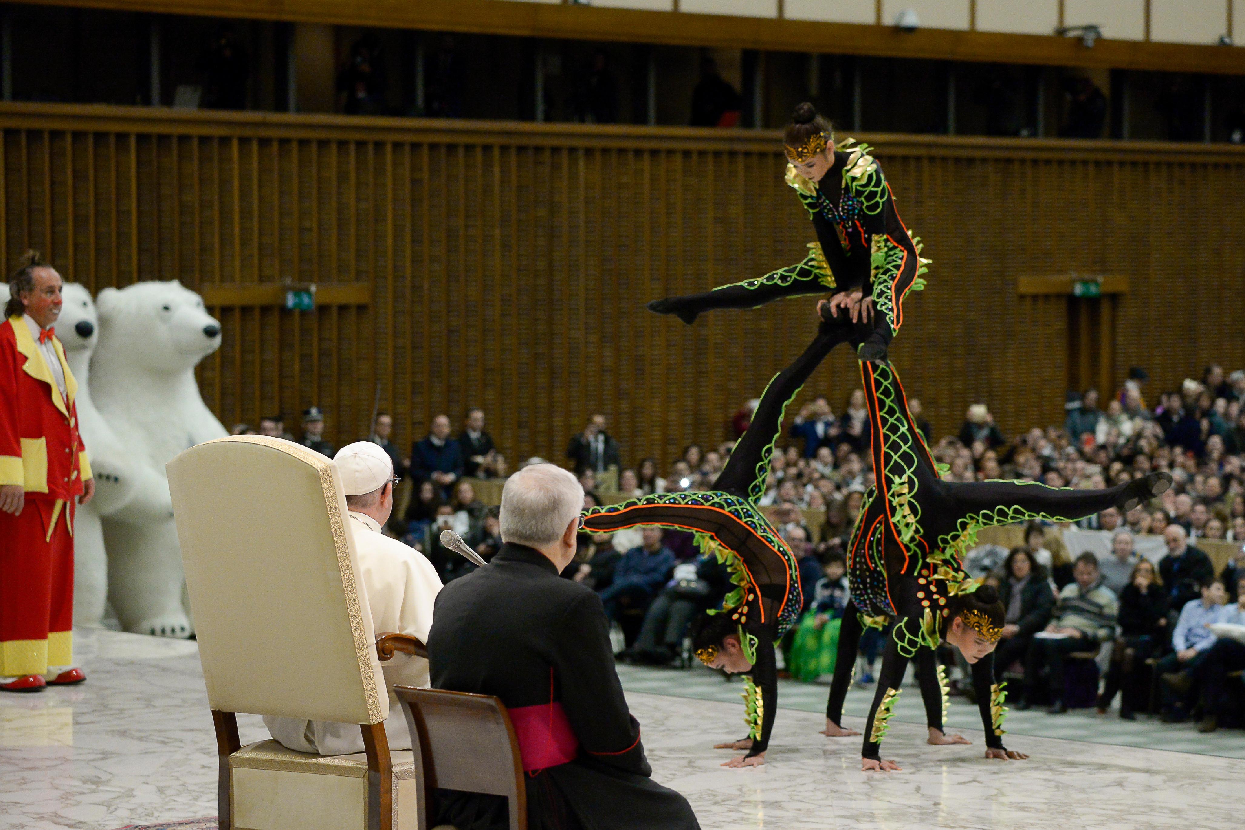 Golden Circus, Audience générale 27/12/2017 © Vatican Media