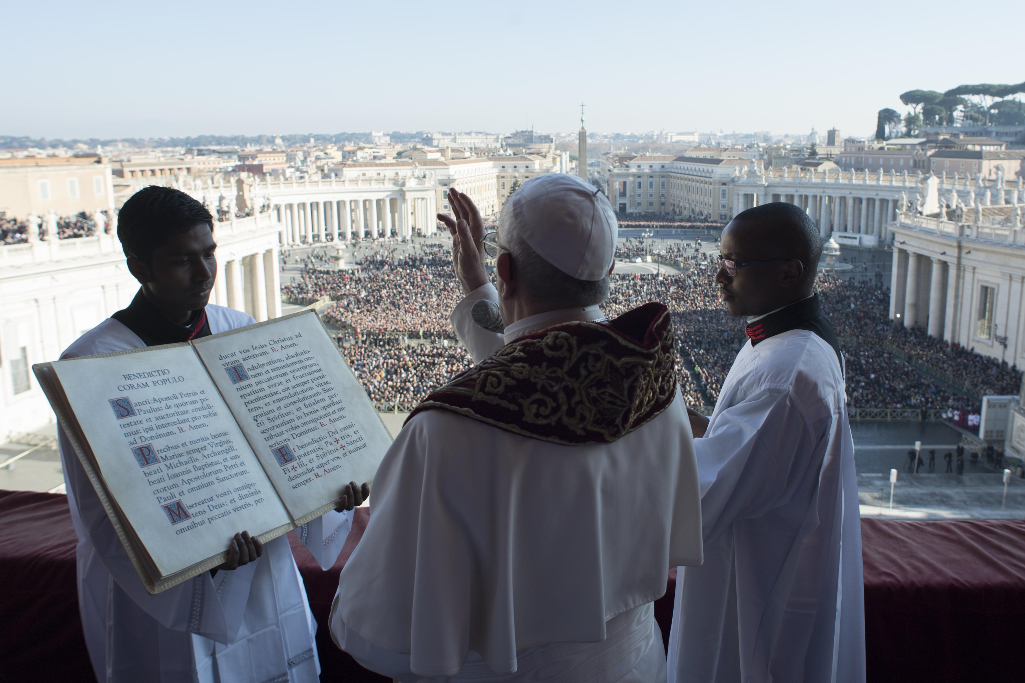 Bénédiction Urbi et Orbi, Noël 2017 © Vatican Media