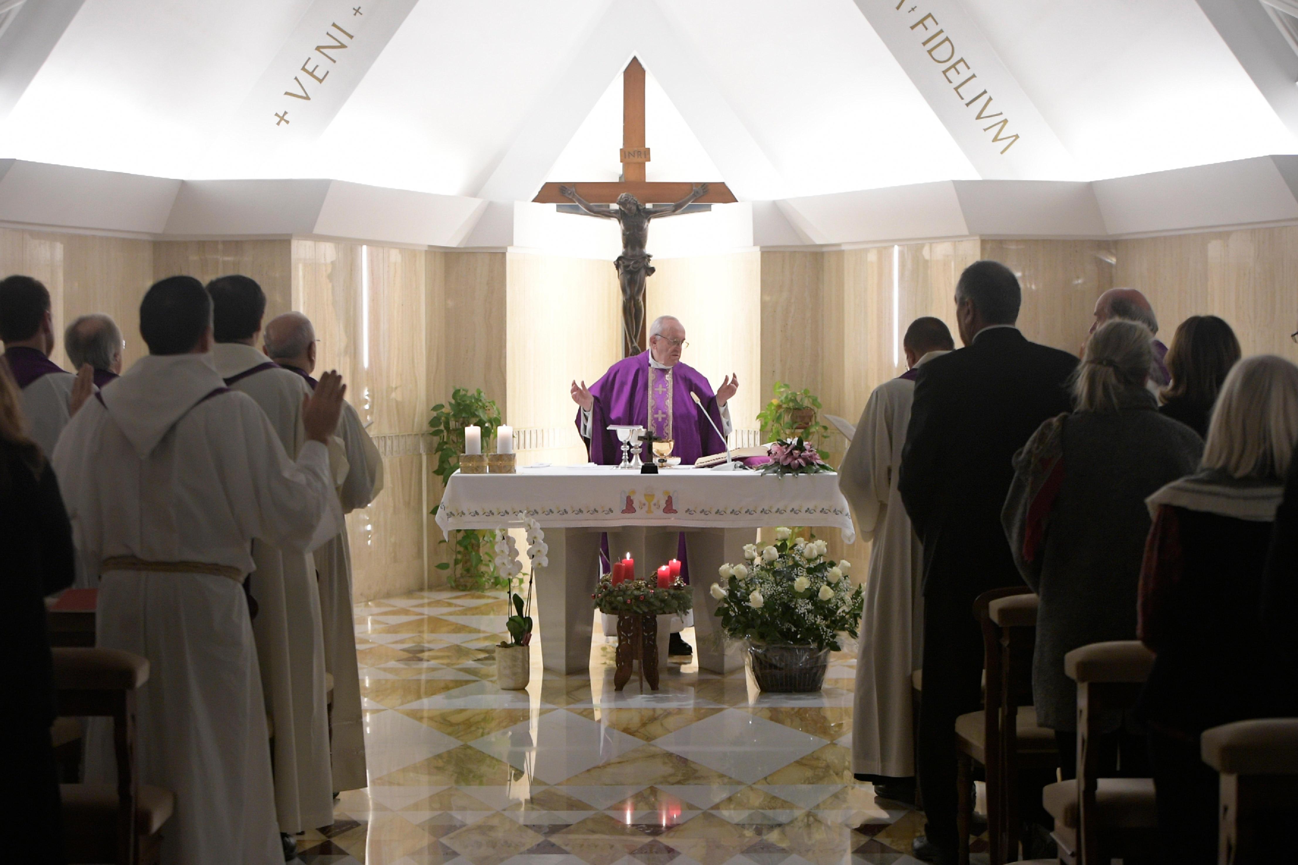Messe à Sainte-Marthe, 18/12/2017 © L'Osservatore Romano