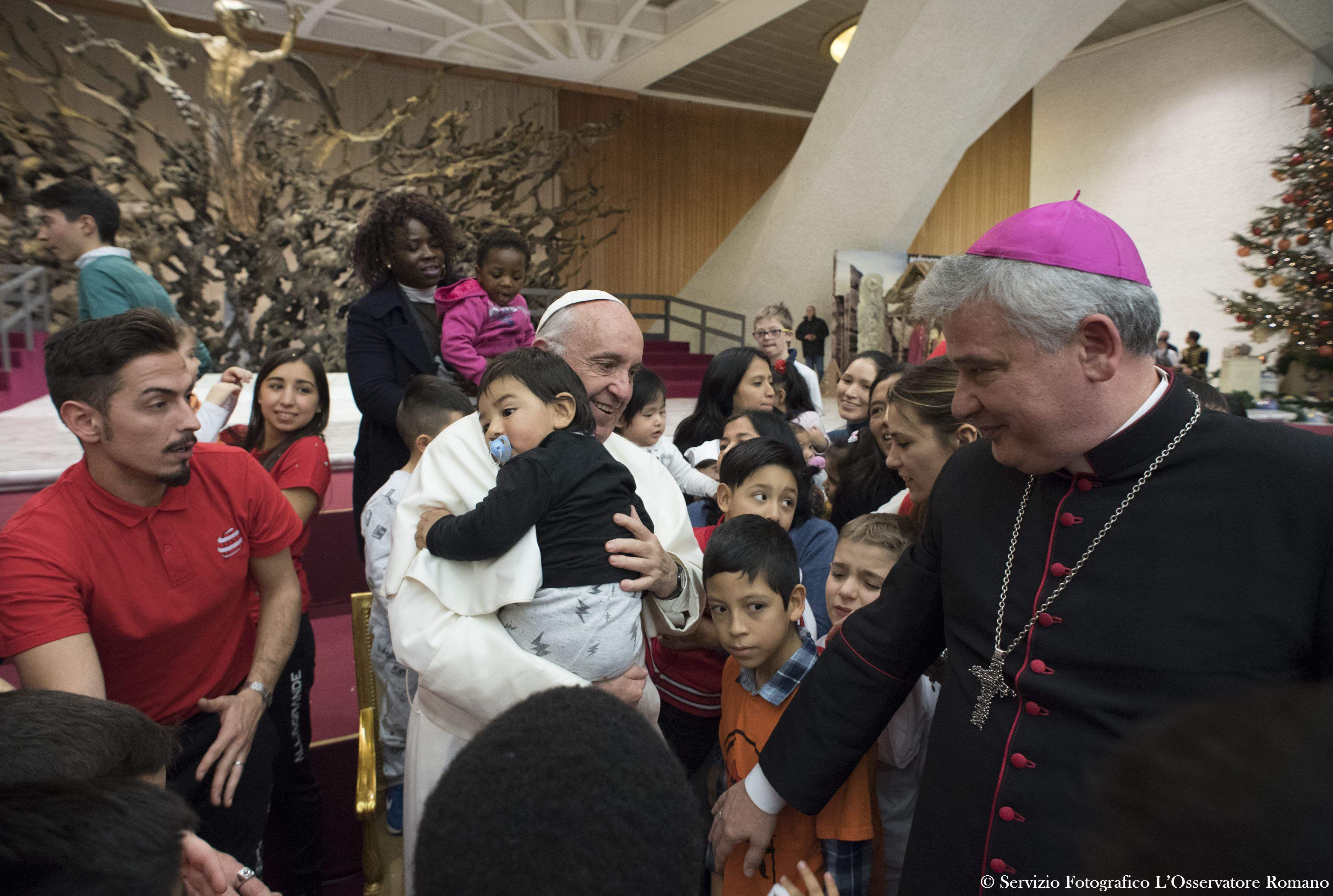 Enfants du Dispensaire Sainte-Marthe © L'Osservatore Romano