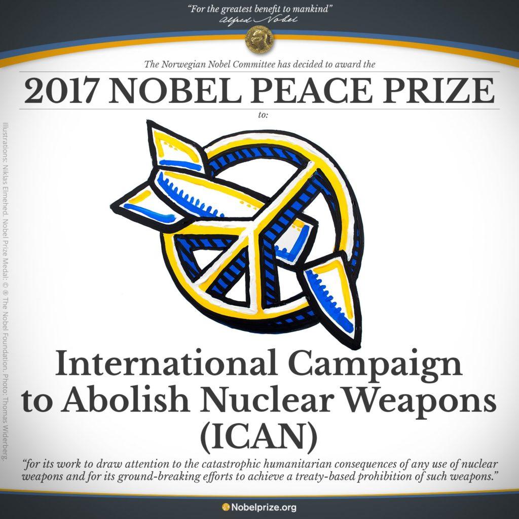 Prix Nobel de la Paix 2017 pour l'ICAN