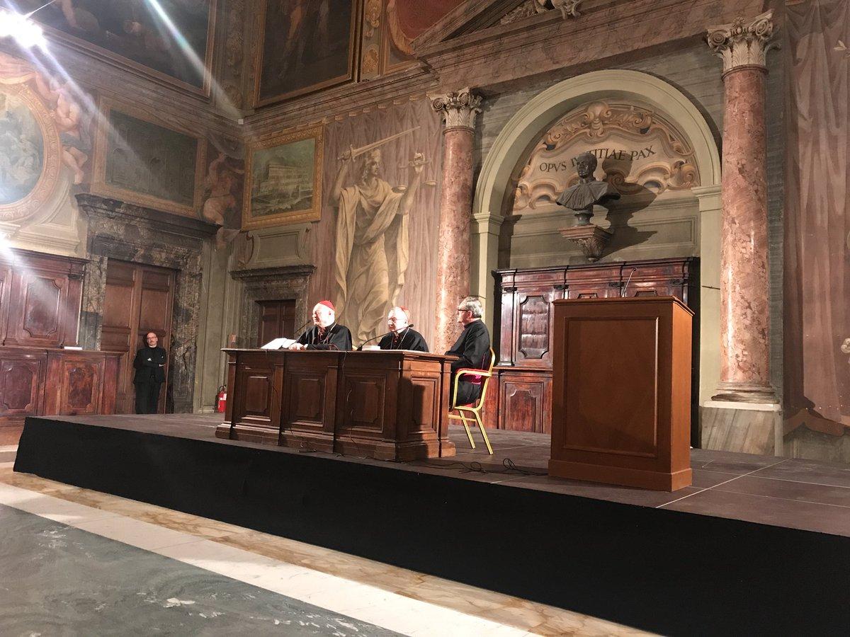 Session des Académies pontificales © Twitter Photo Mgr Melchor Sánchez de Toca y Alameda
