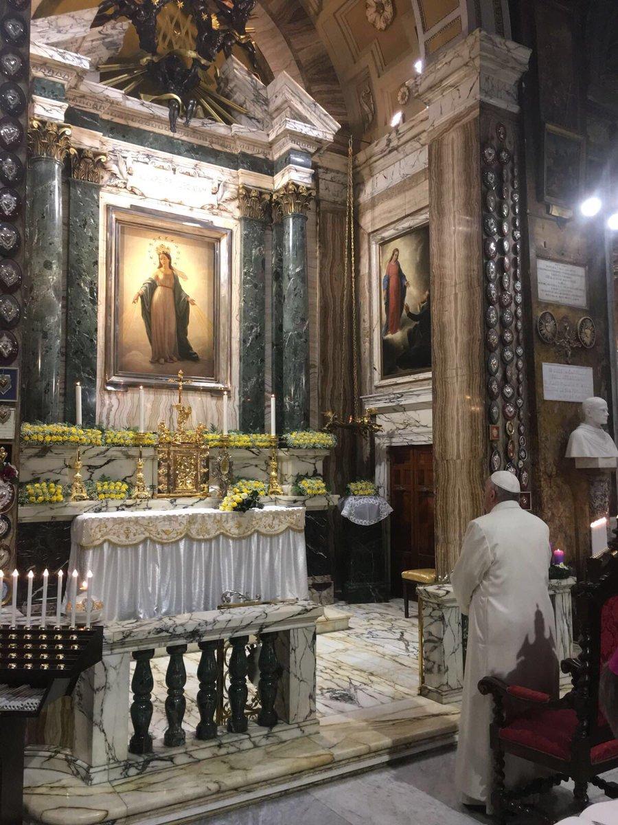 Le pape à Sant'Andrea delle Fratte, la Vierge du Miracle (1842) @GregBurkeRome