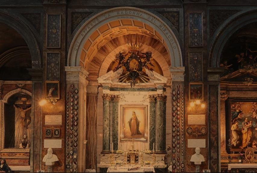 Vierge du Miracle, Sant'Andrea della Frate © santandreadellefratte.it