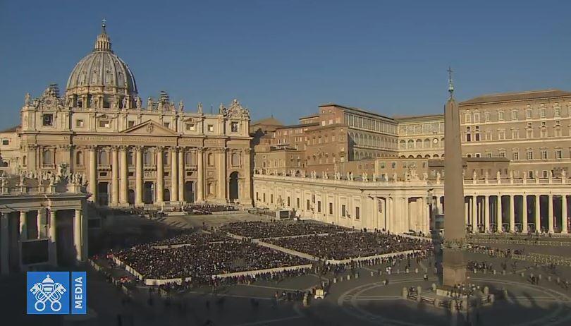 Audience générale du 24/01/2018, capture Vatican Media