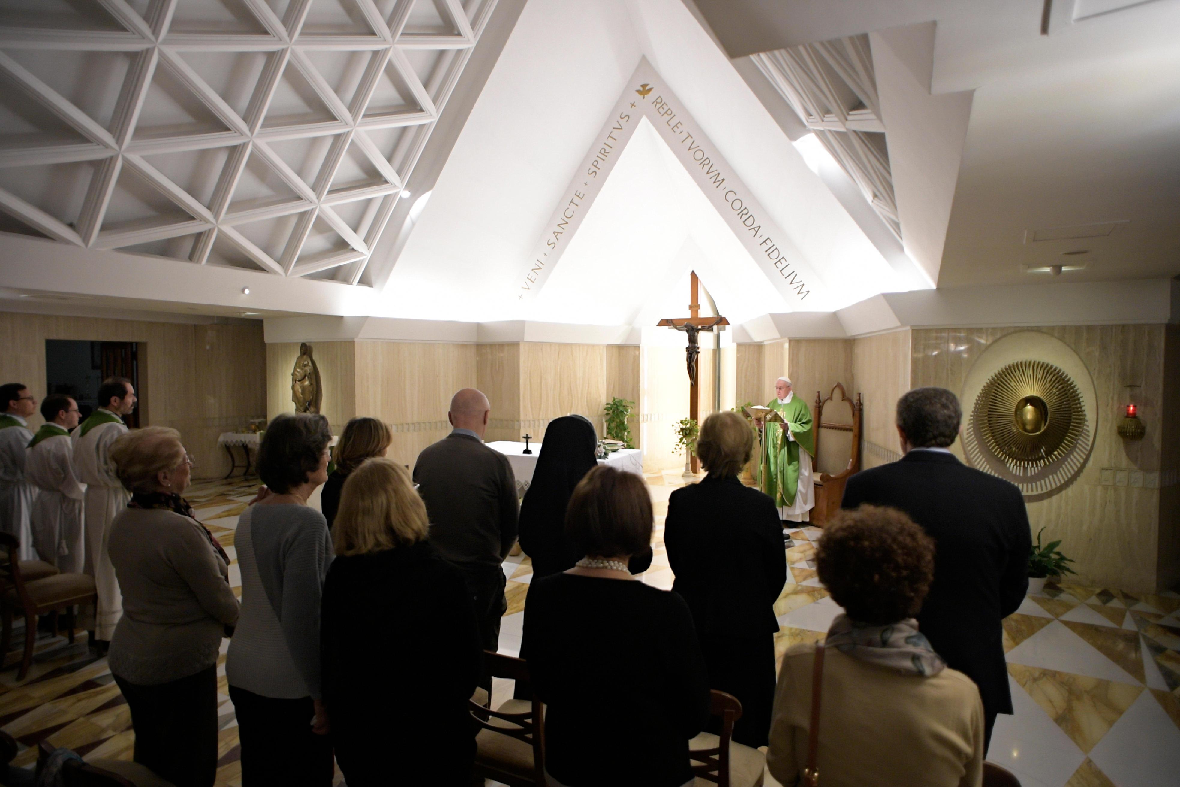 Messe à Sainte-Marthe 9/01/2018 © Vatican Media