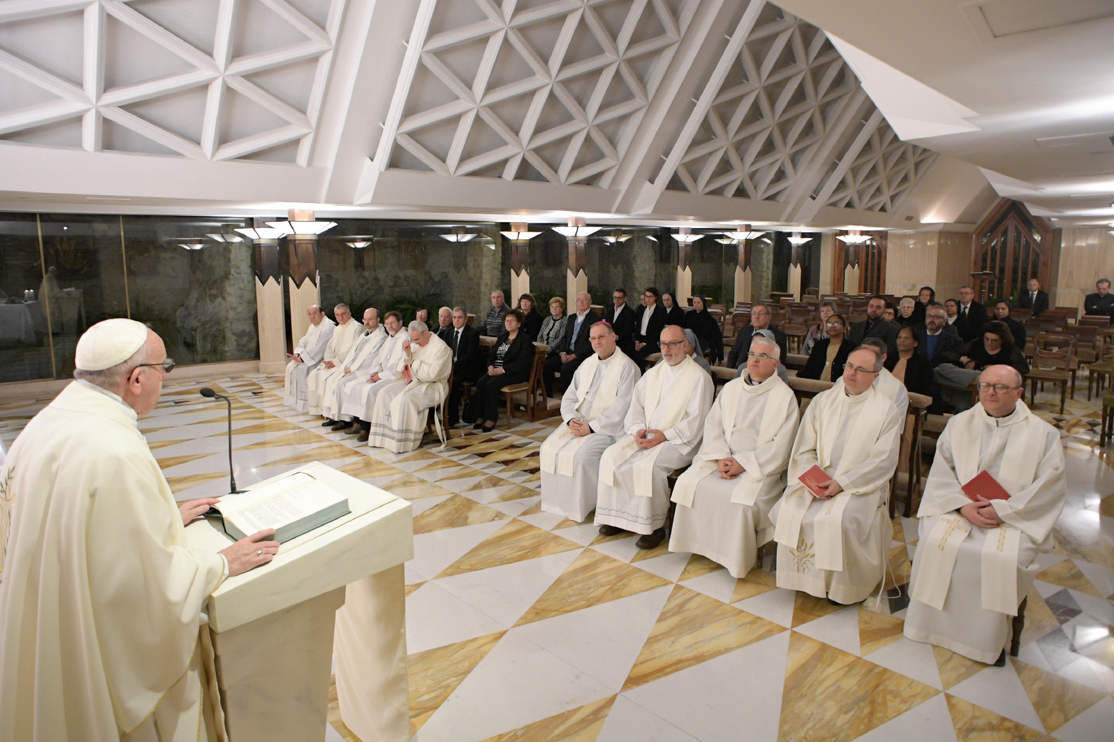 Messe à Sainte-Marthe 8/01/2018 © Vatican Media