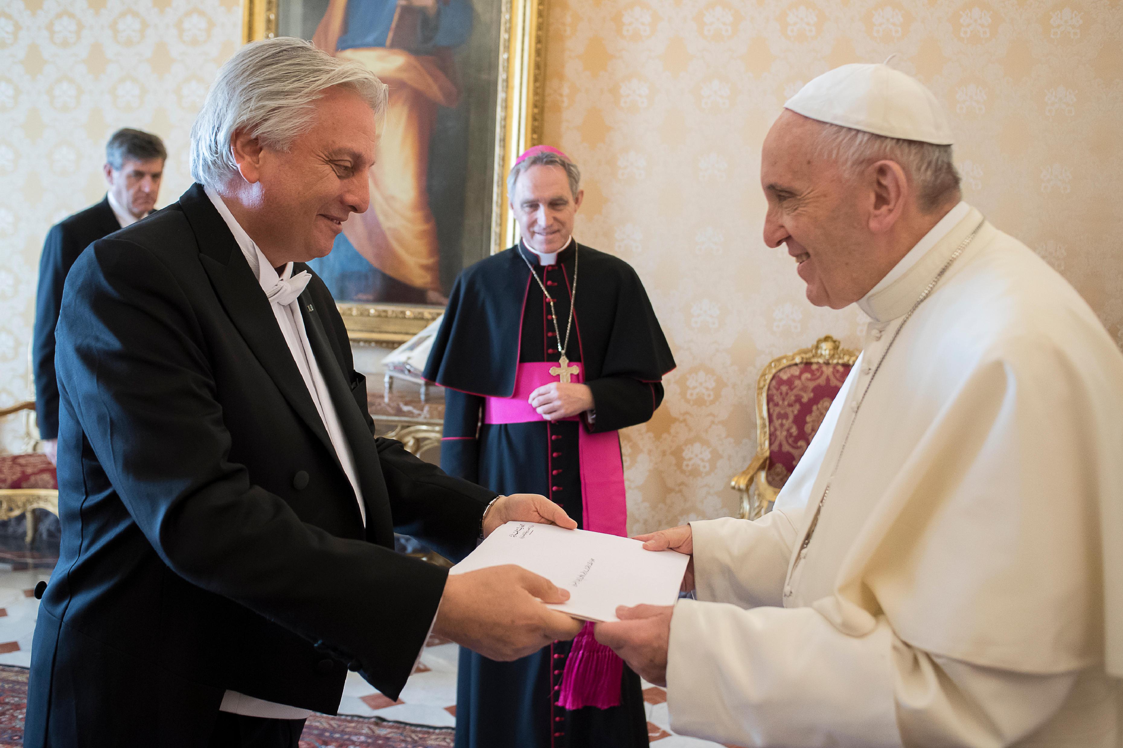 Antonio Raymond Andary ambassadeur du Liban © L'Osservatore Romano