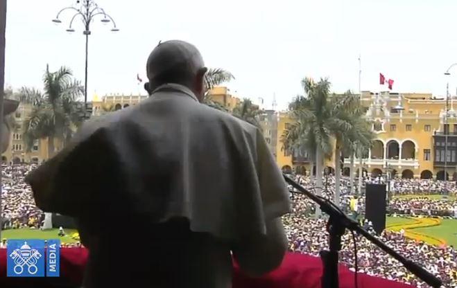 Angélus à Lima, Pérou, capture Vatican Media