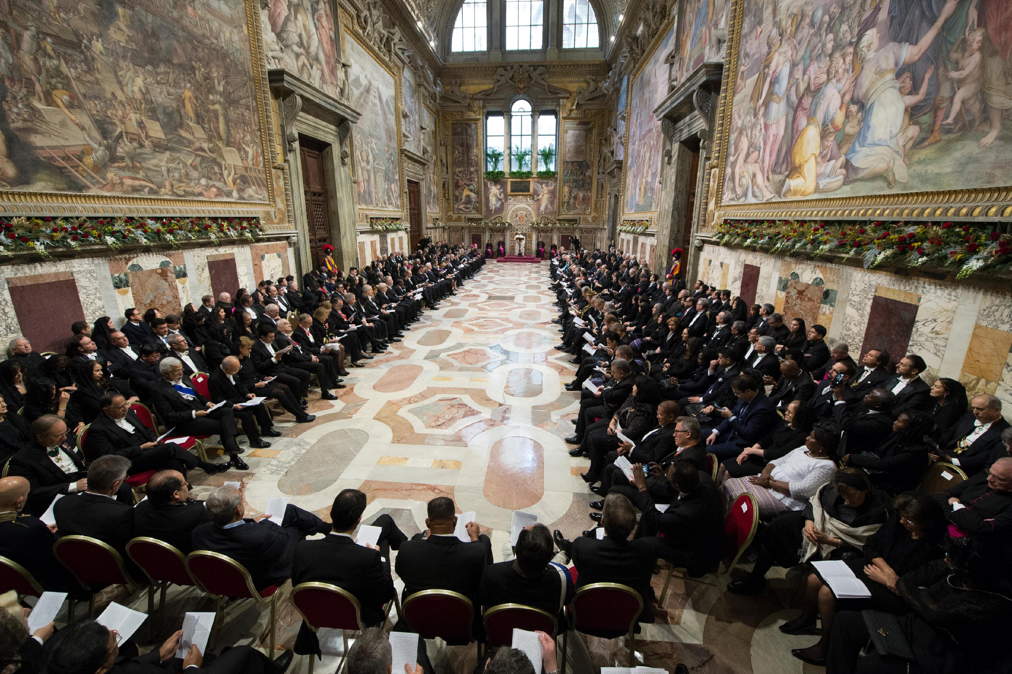 Voeux au Corps diplomatique © Vatican Media