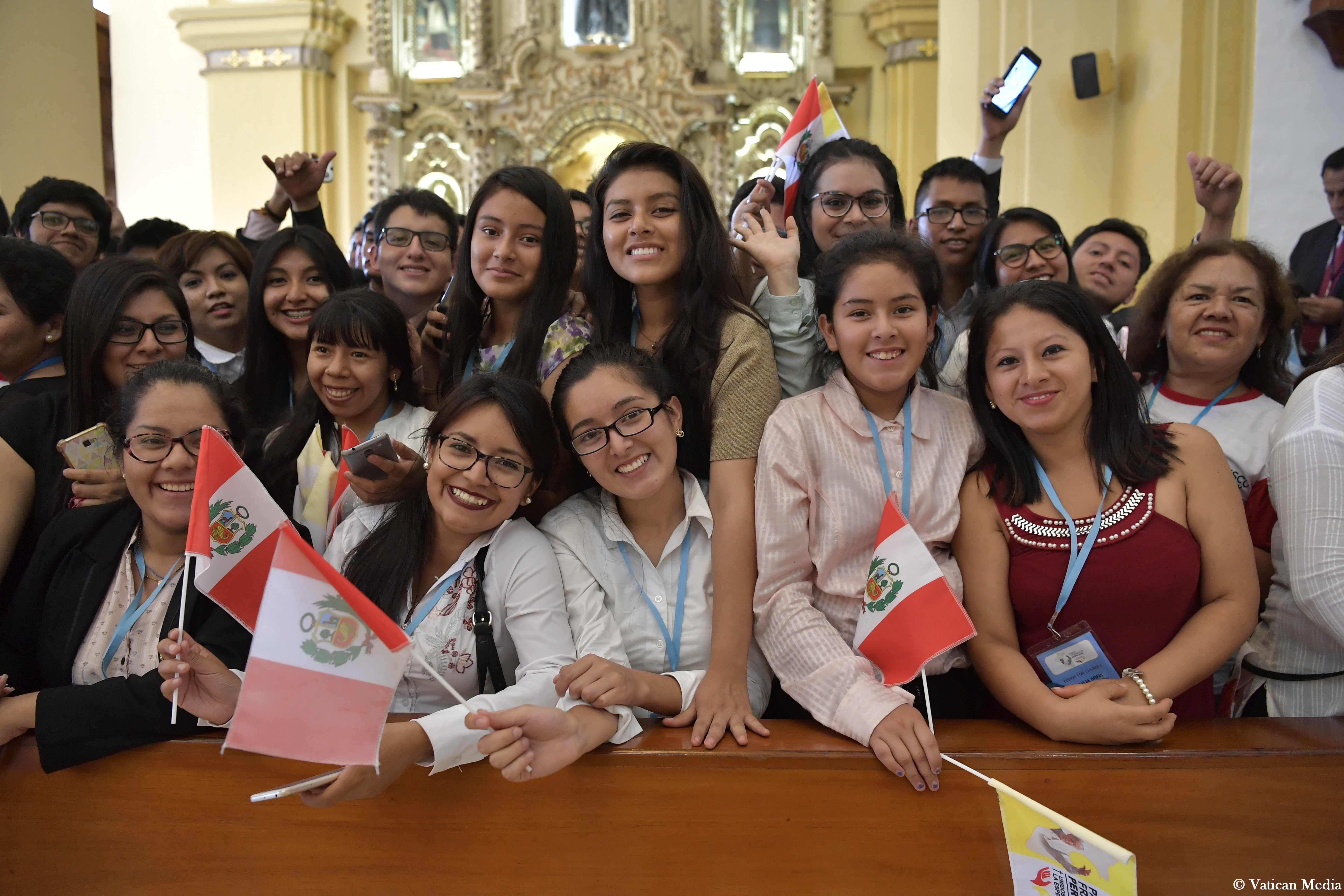 Visite à la cathédrale, Trujillo, Pérou © Vatican Media