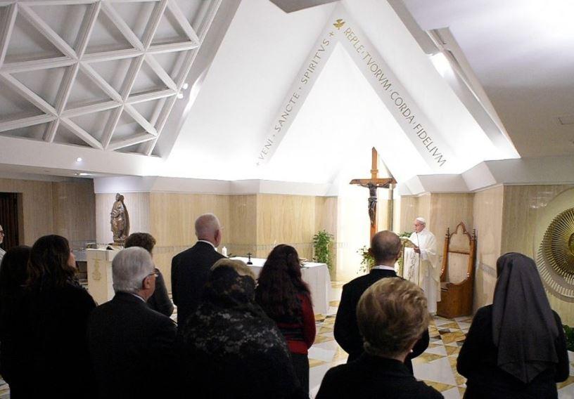 Messe du 26 janvier 2018 à Sainte-Marthe © Vatican Media