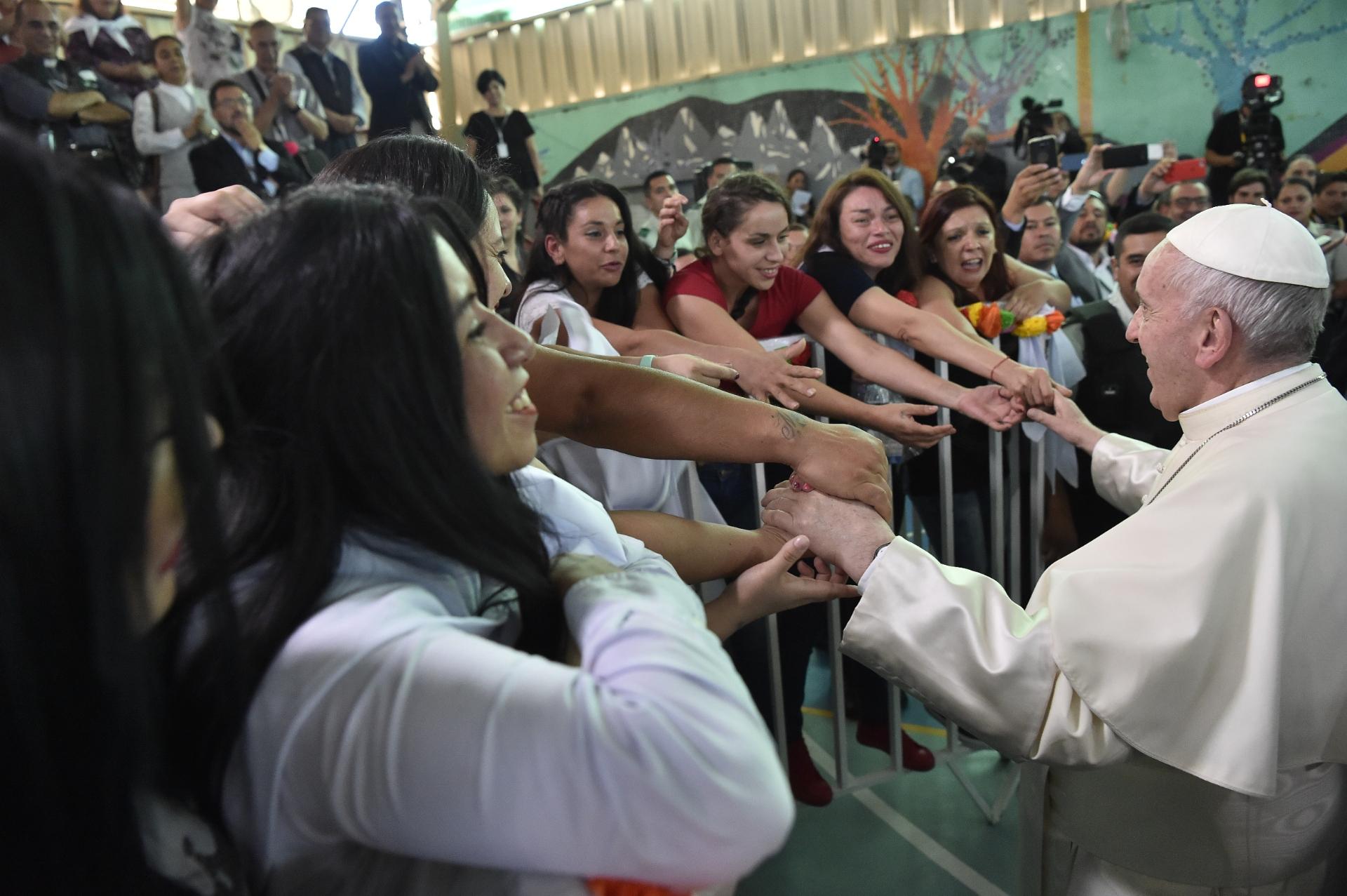 Prison pour femmes de Santiago du Chili © Vatican Media