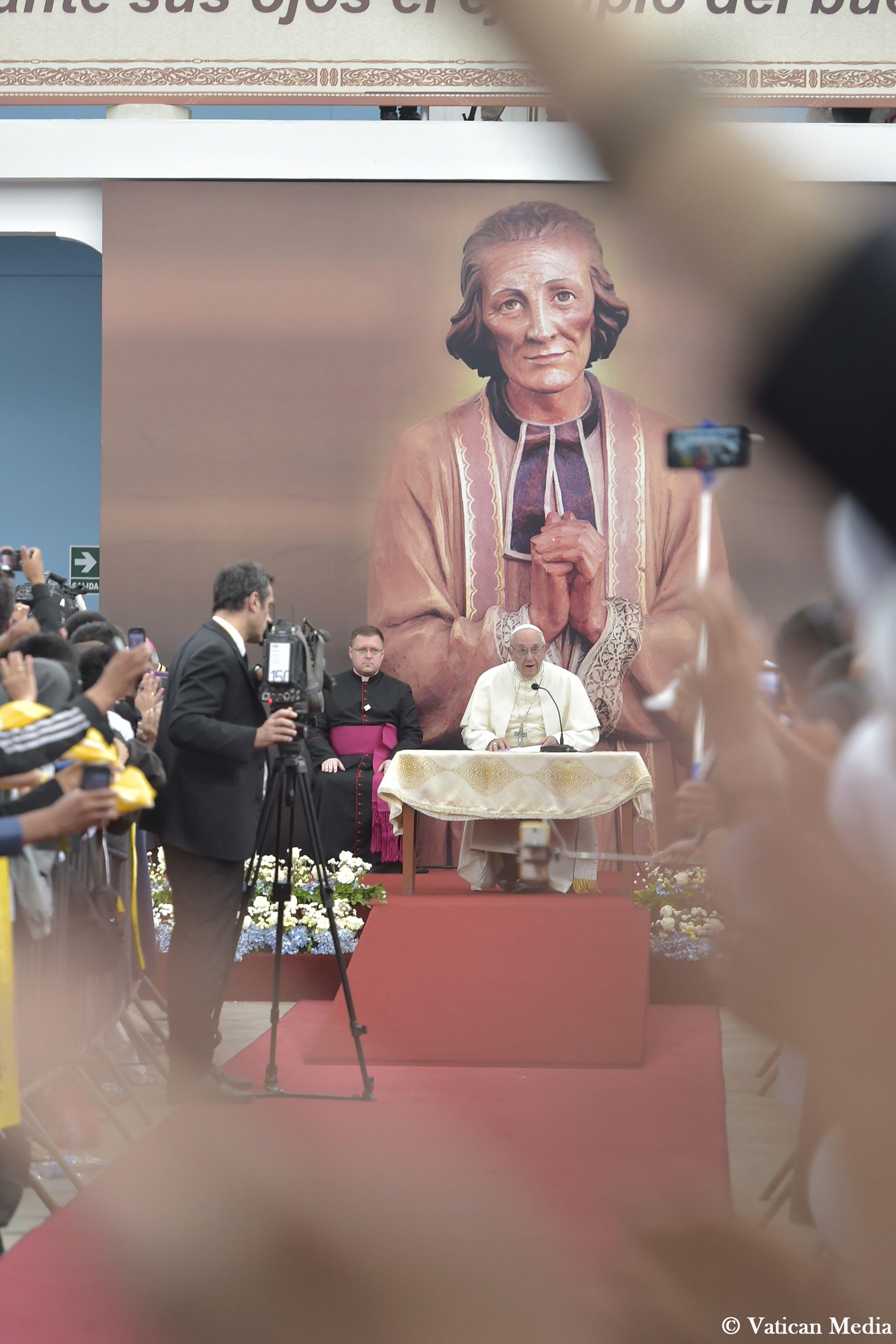 Rencontre avec le clergé et les consacrés, Trujillo, Pérou © Vatican Media