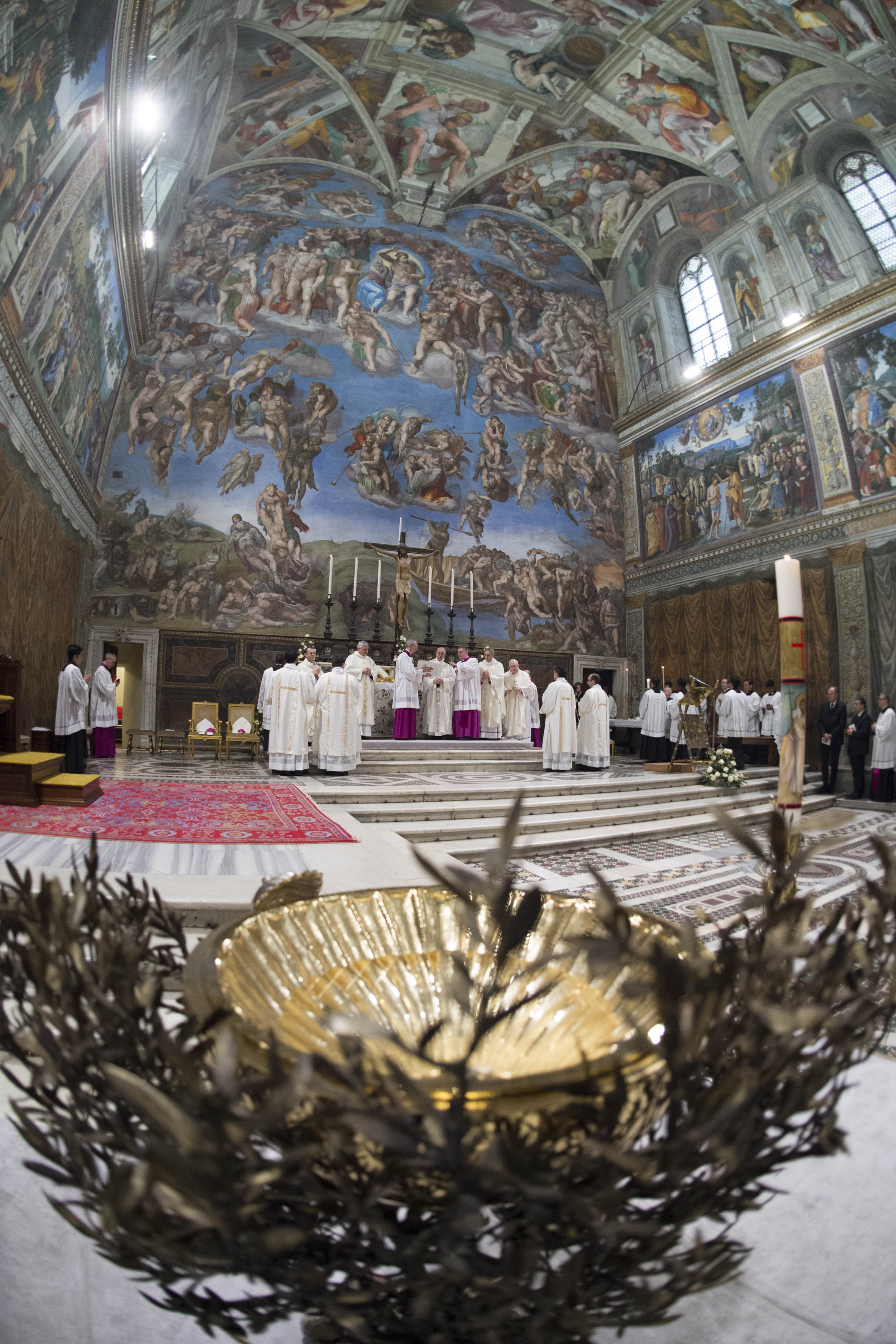 Baptêmes, chapelle Sixtine © Vatican Media