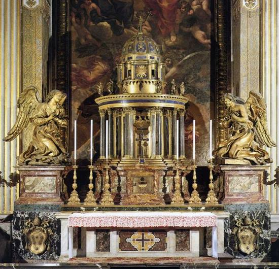 Tabernacle de la chapelle du Saint-Sacrement à Saint-Pierre, Guido Sante, OADI @ unipa.it