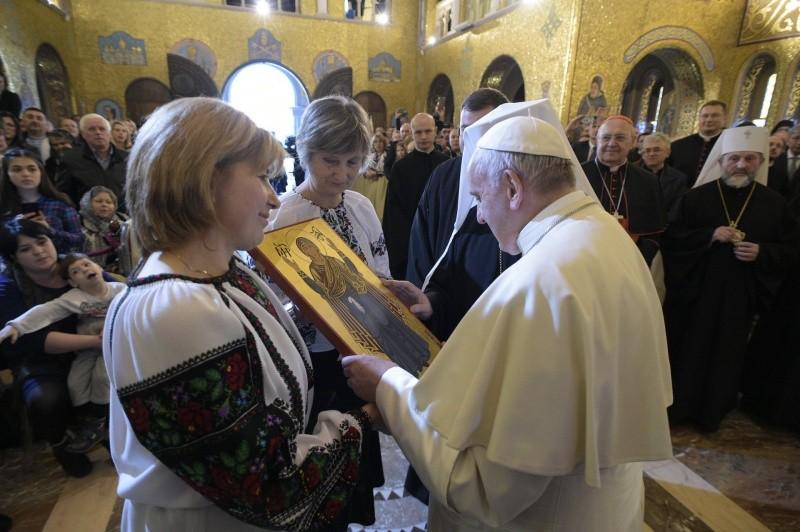 Basilique grecque-catholique ukrainienne Santa Sofia 28/01/2018 © Vatican Media