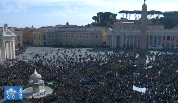 Angélus du 11/02/2018, capture Vatican Media