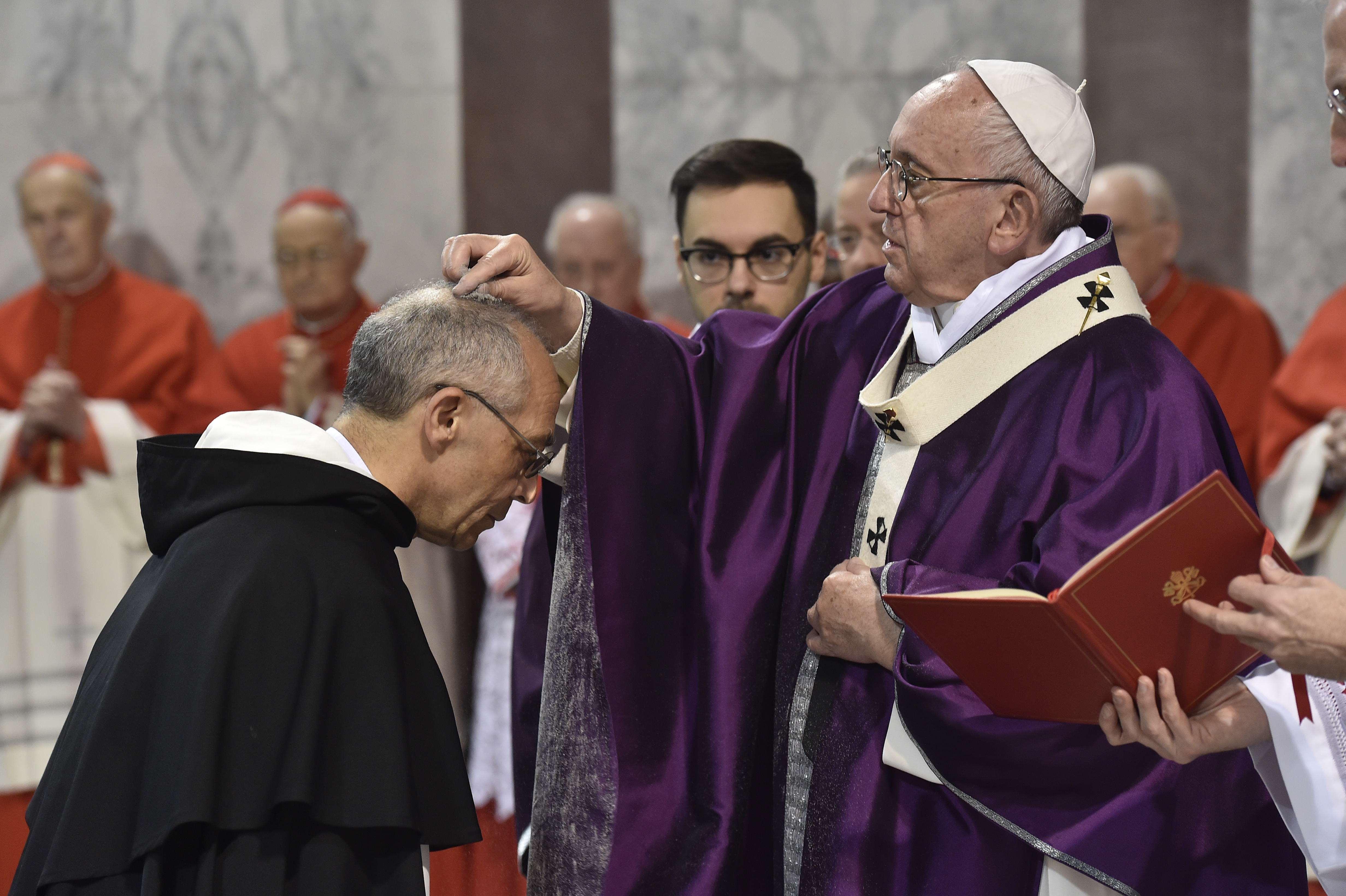 Messe des Cendres à Sainte-Sabine © Vatican Media