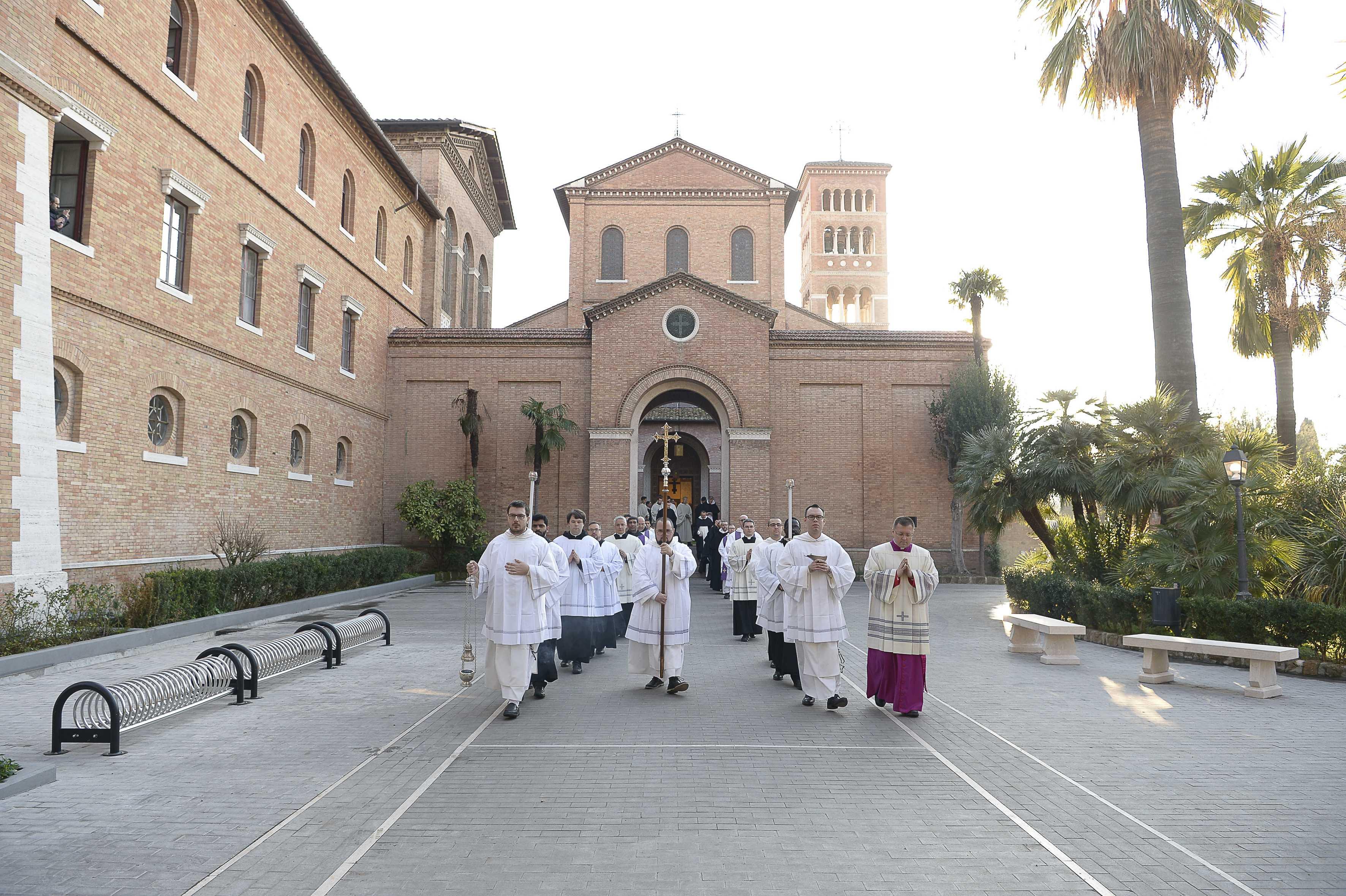 Procession des cendres, Saint Anselme © Vatican Media