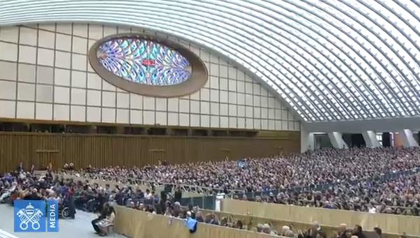 Audience générale du 28/02/2018, capture Vatican Media