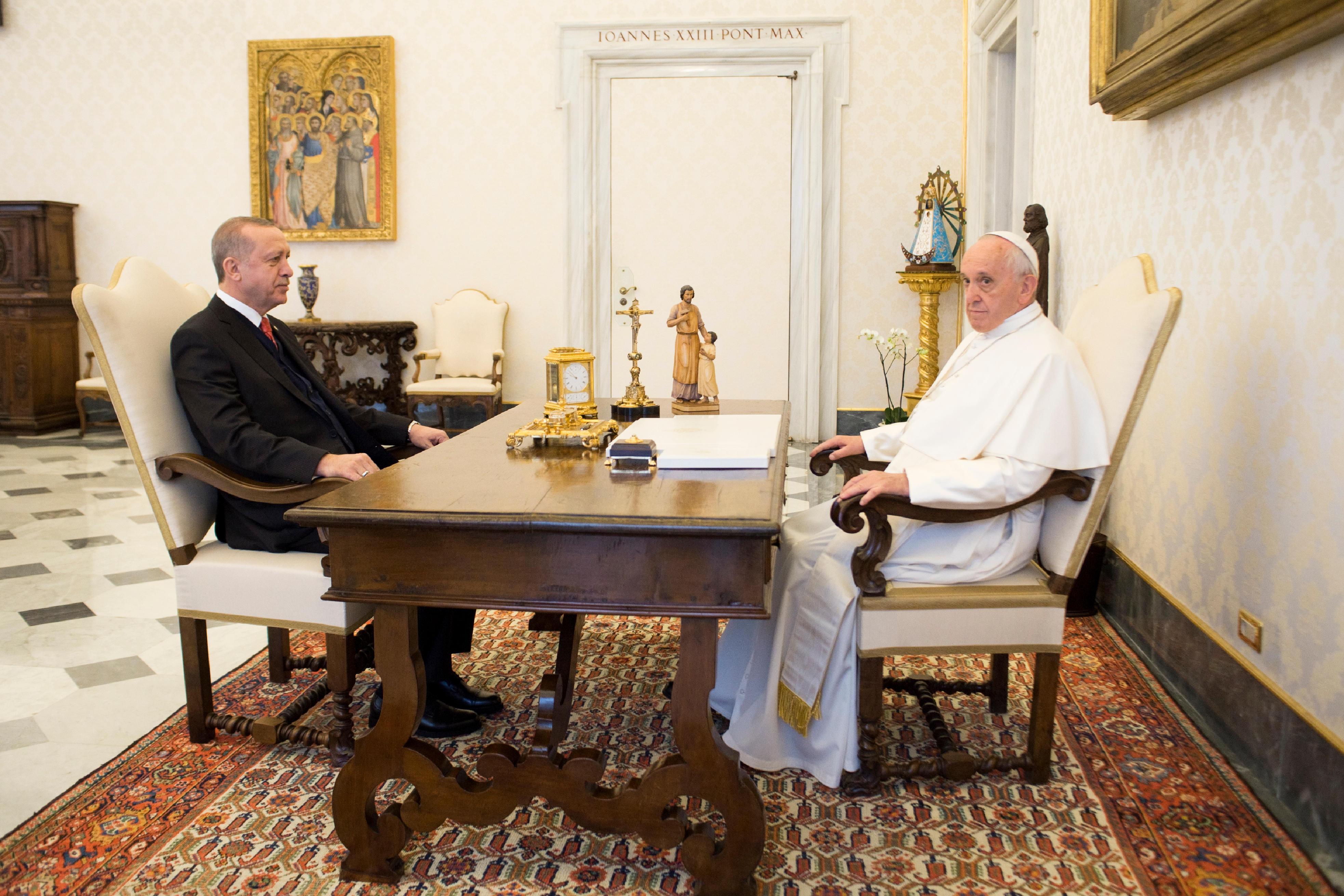 Visite du président Erdogan 05/02/2018 © Vatican Media