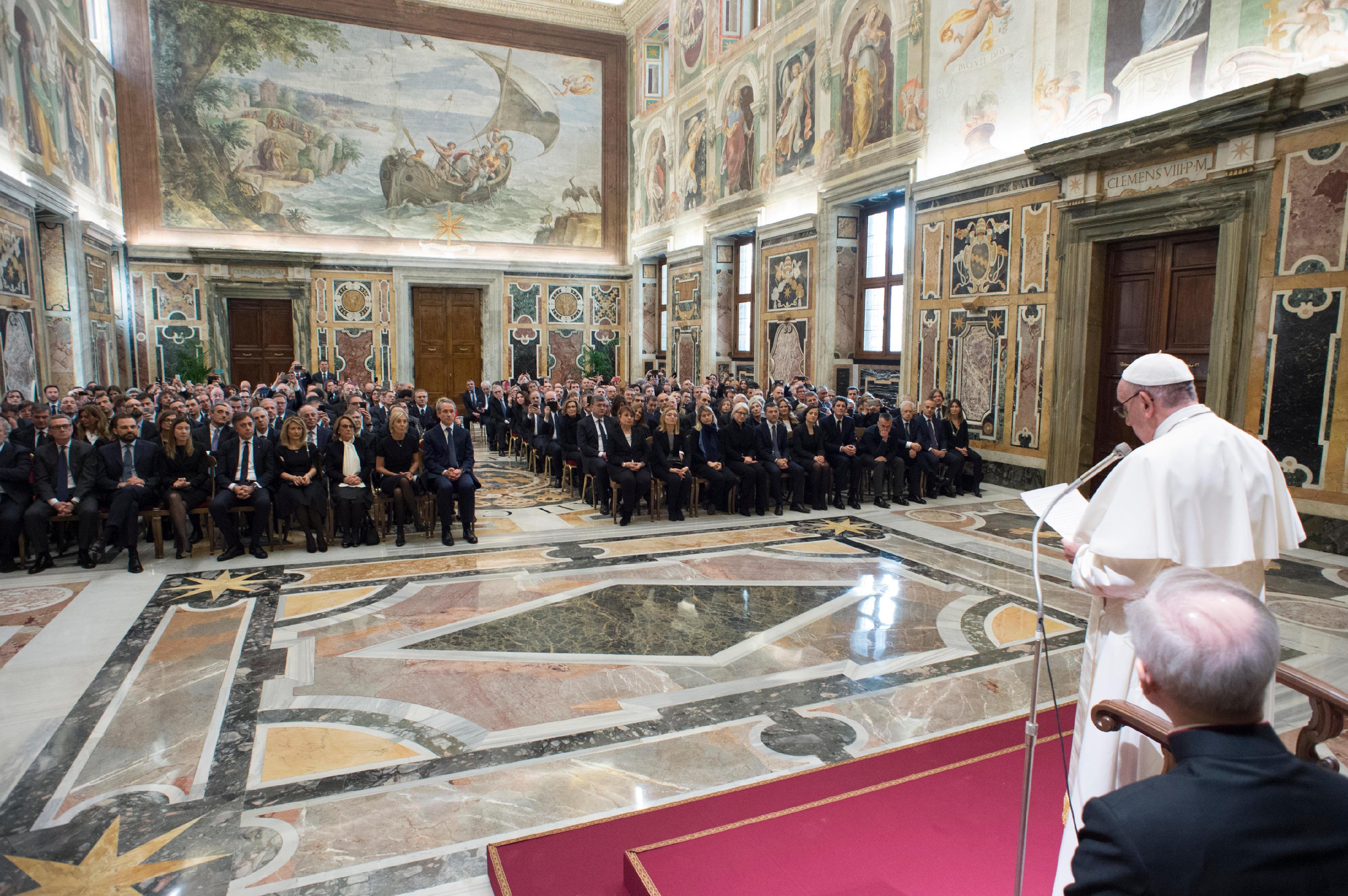Audience avec la Poste italienne © Vatican Media