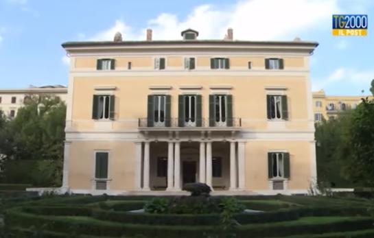 Villa Bonaparte, ambassade de France à Rome, capture TG2000
