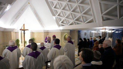 Messe du 16/02/2018 à Sainte-Marthe © Vatican Media