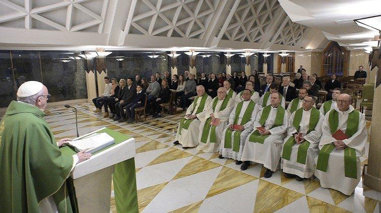 Sainte-Marthe 08/02/2018 © Vatican Media