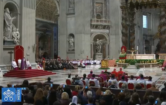 Célébration pénitentielle à Saint-Pierre, capture Vatican Media