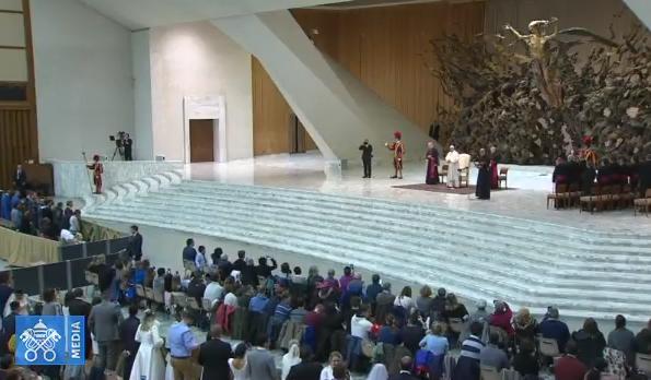 Audience générale du 7/03/2018, capture Vatican Media
