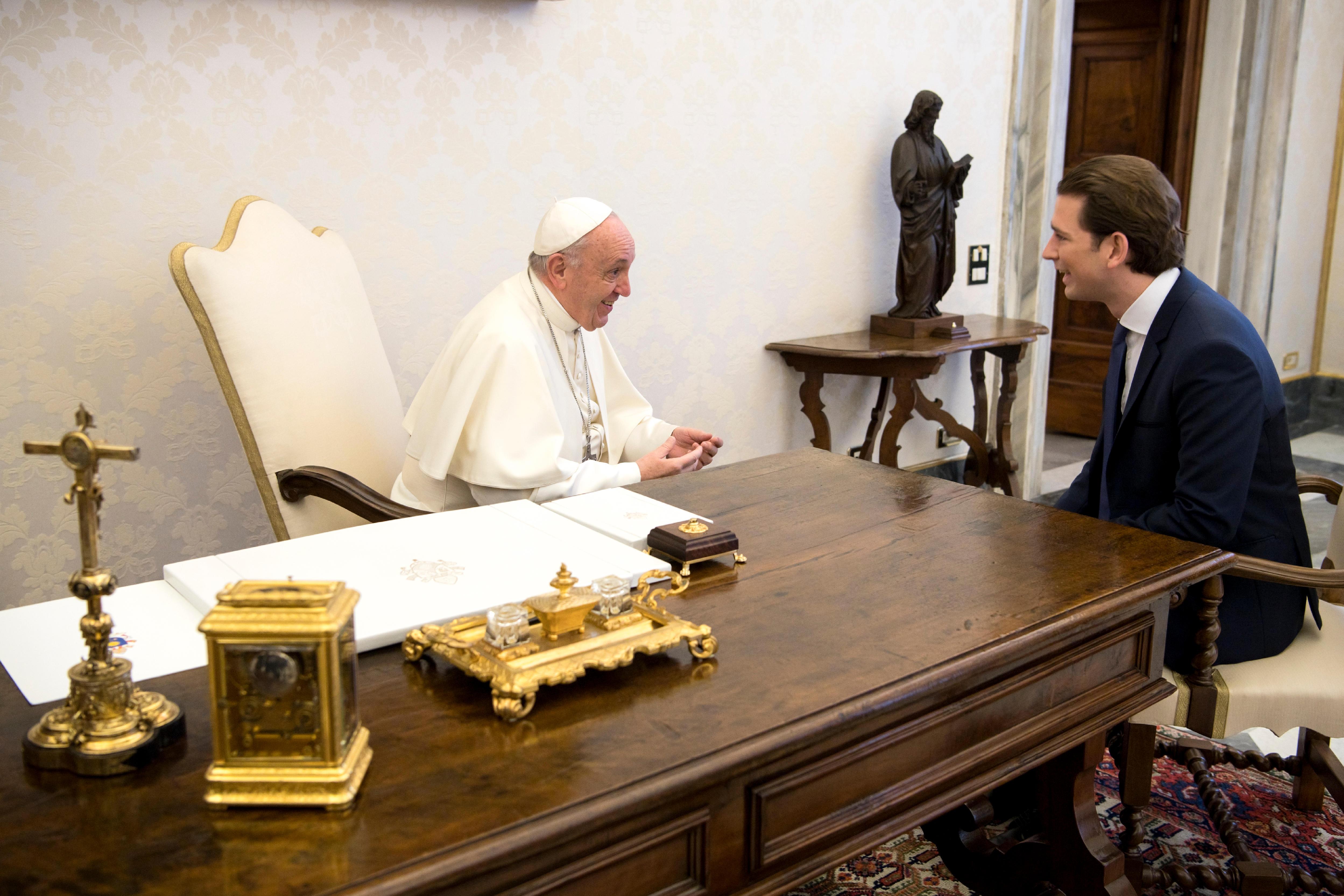 Chancelier Sebastian Kurz © Vatican Media
