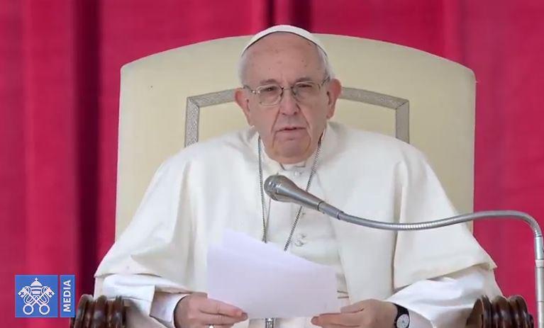 Audience générale du 28/03/2018, capture Vatican Media