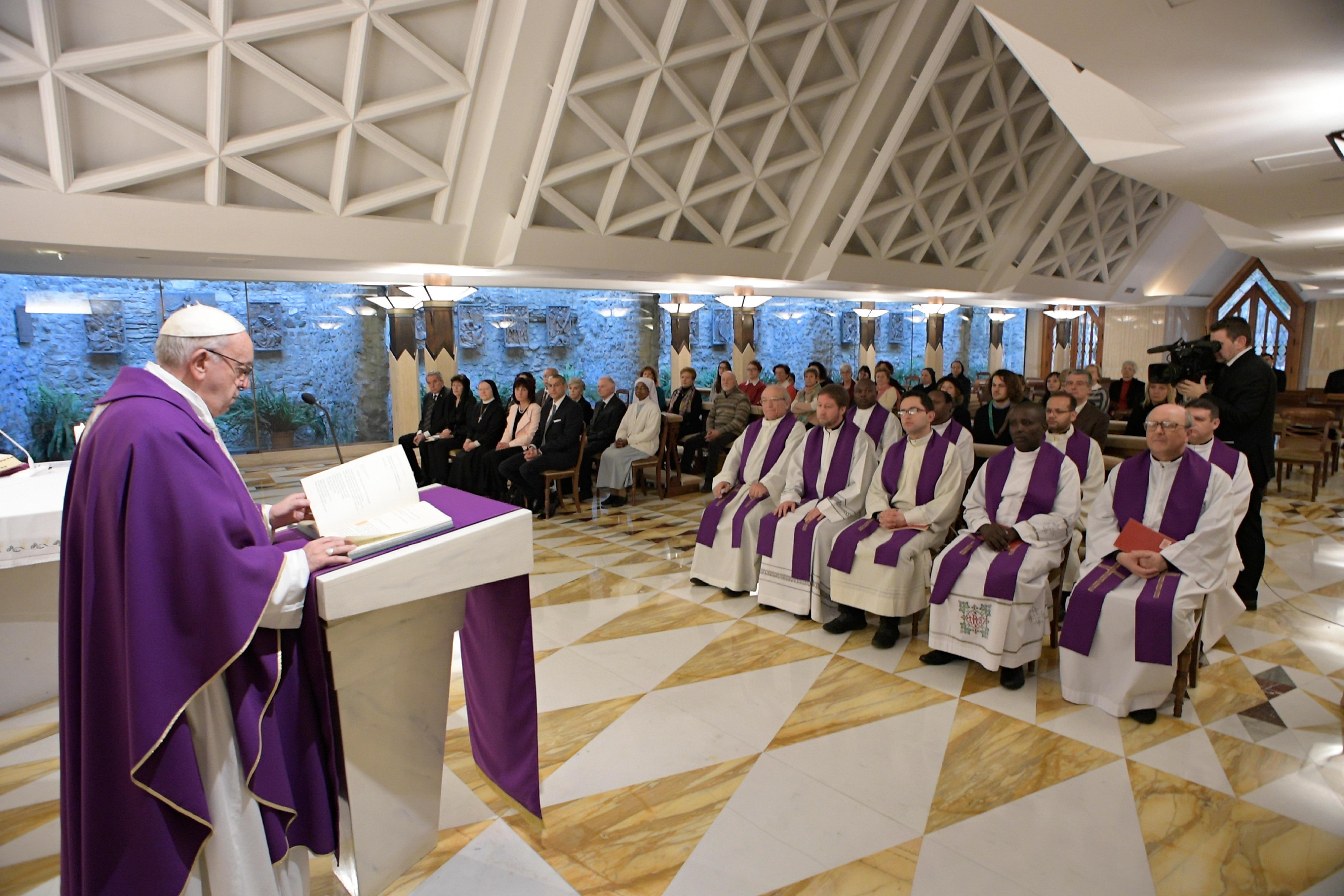 Sainte-Marthe 12/03/2018 © Vatican Media