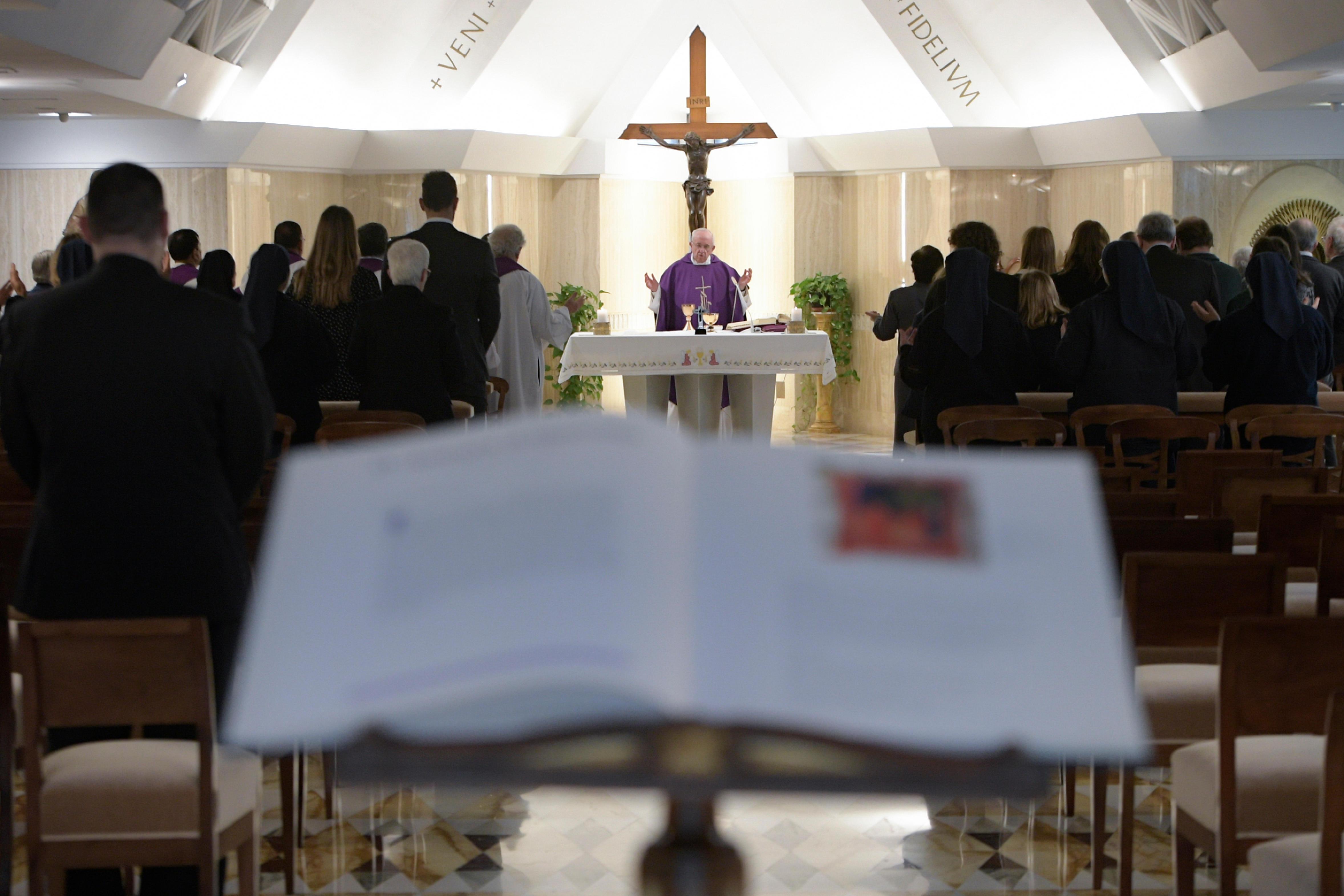 Sainte-Marthe, messe du 15/03/2018 © Vatican Media