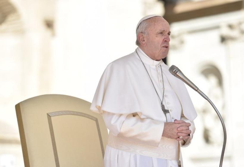 Pape sérieux, grave, Audience générale du 14 mars 2018 © Vatican Media