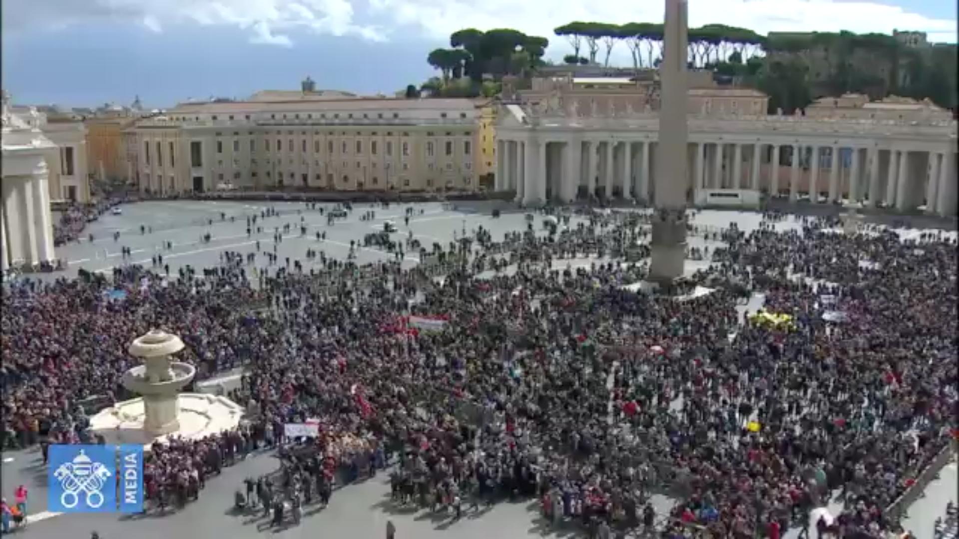 Angélus 18/03/2018, capture @ Vatican Media