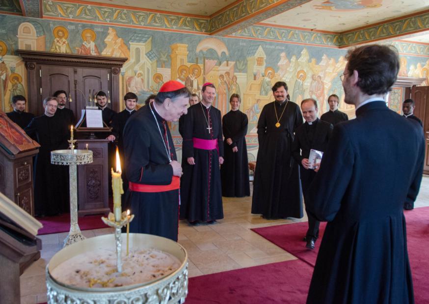 Cardinal Koch au Séminaire orthodoxe russe d'Épinay-sous-Sénart, France © seminaria.fr