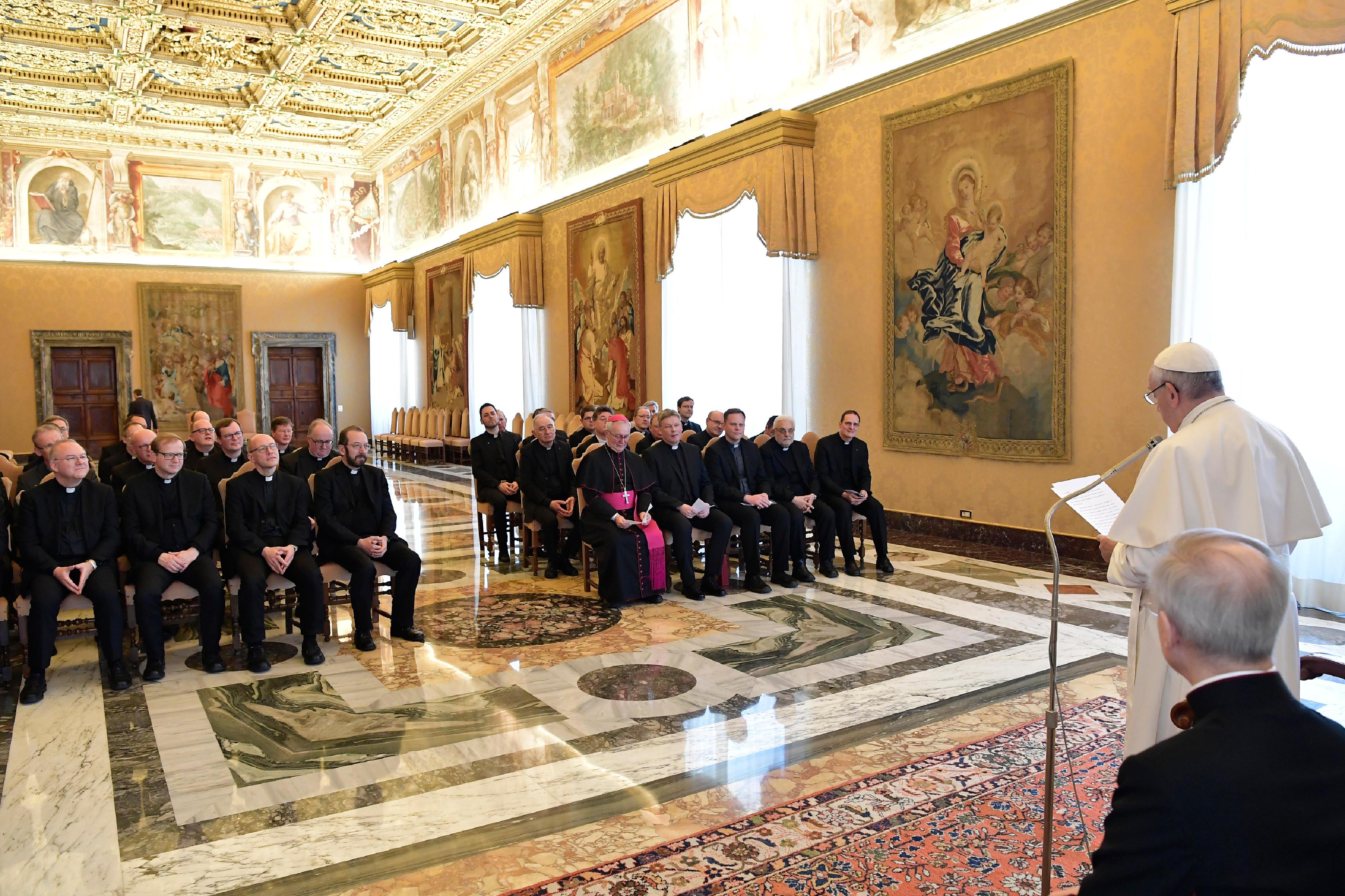 Recteurs de séminaires de langue allemande © Vatican Media