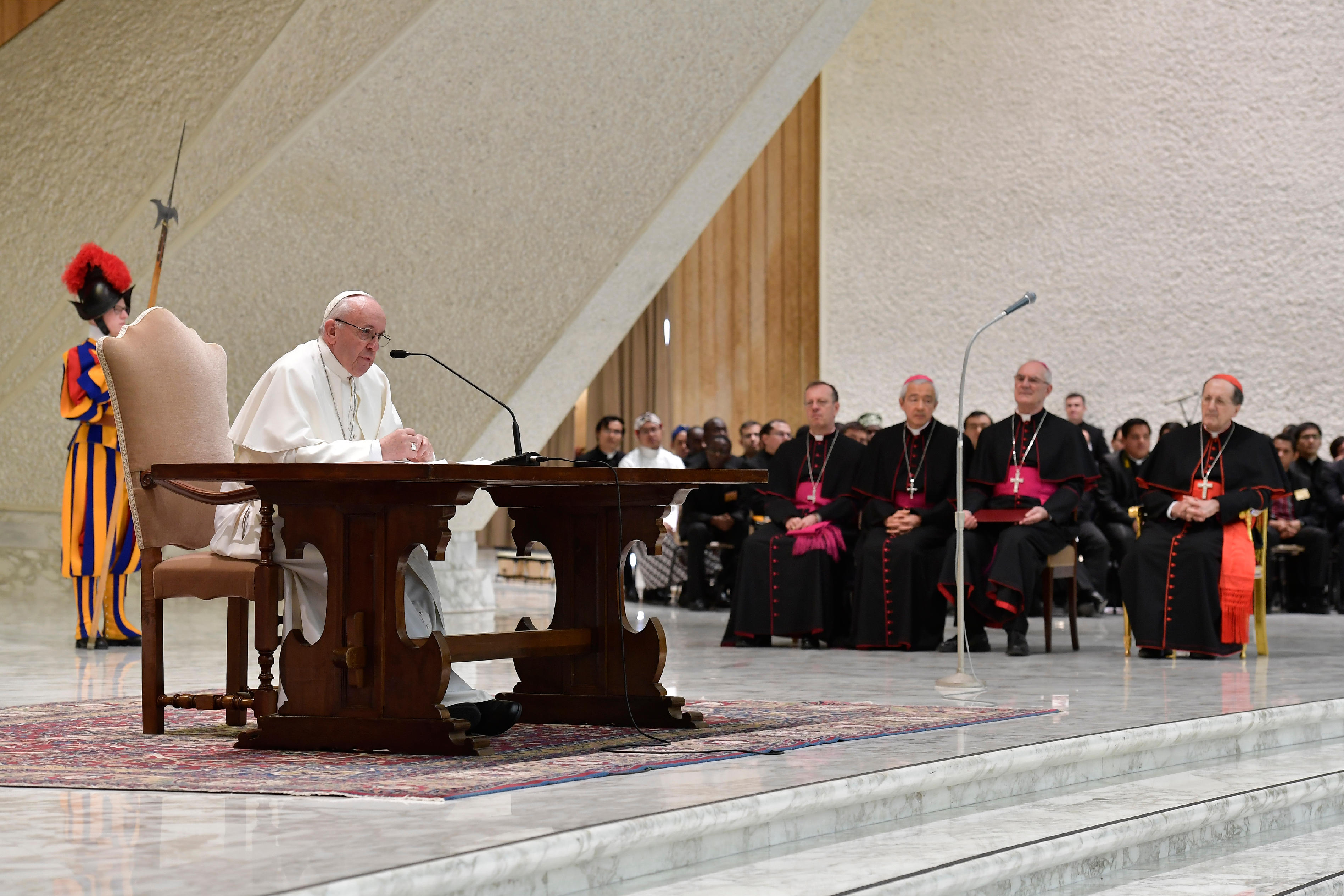 Rencontre avec les séminaristes et les prêtres des collèges romains © Vatican Media