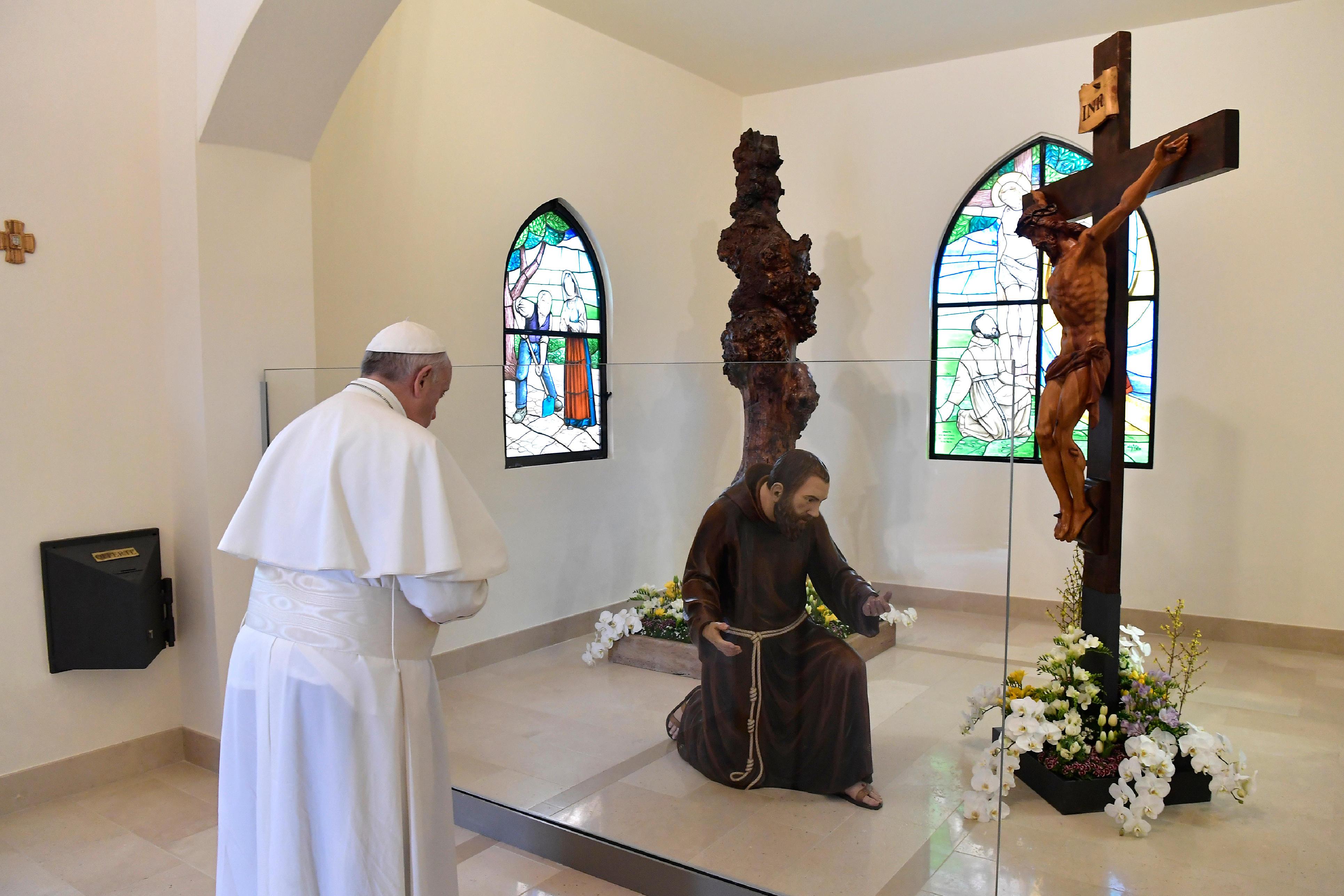 Visite à Pietrelcina, l'orme des stigmates © Vatican Media