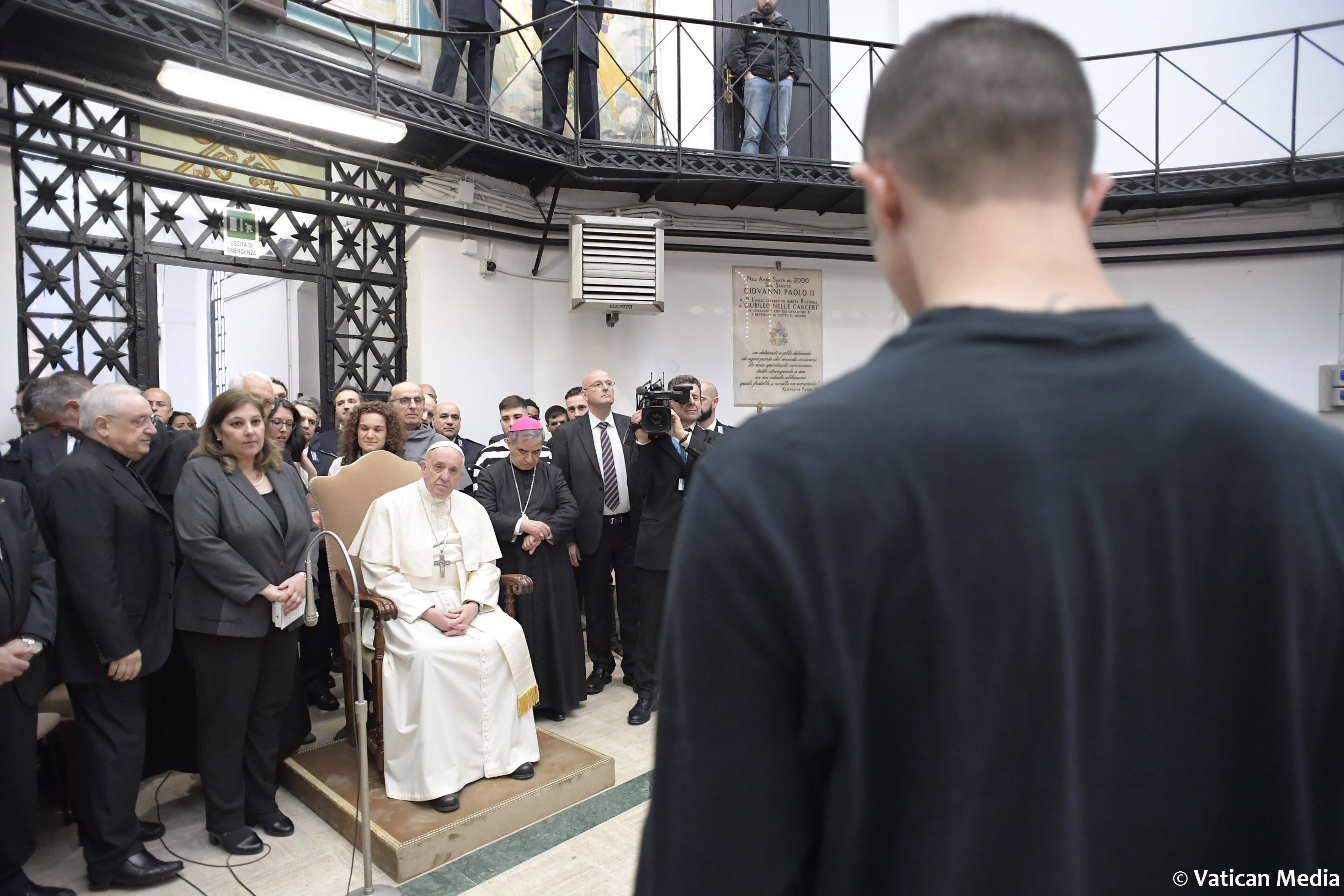 Messe in Cena Domini 2018 à Regina Coeli © Vatican Media
