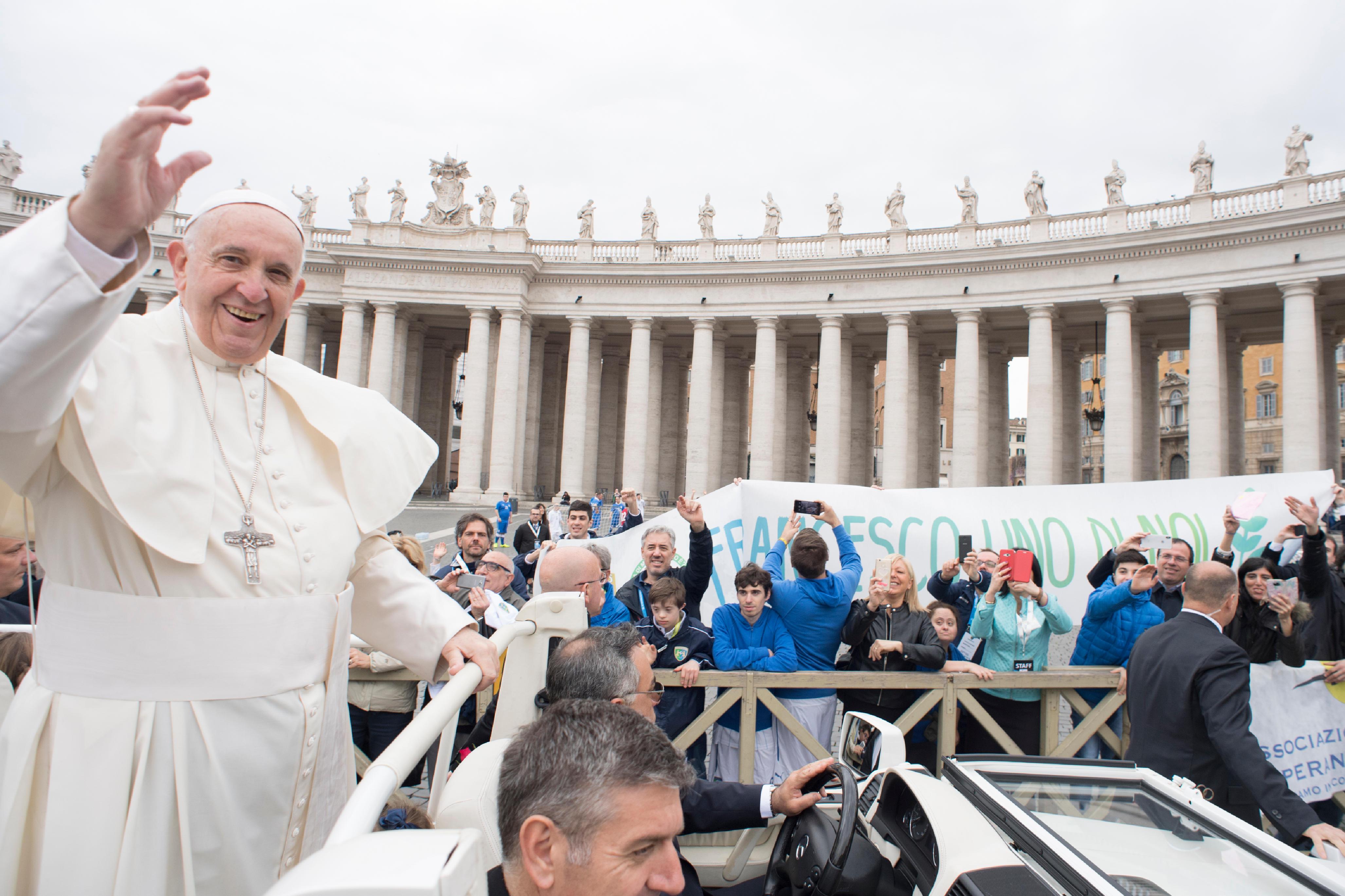 Audience du 11/04/2018 © Vatican Media