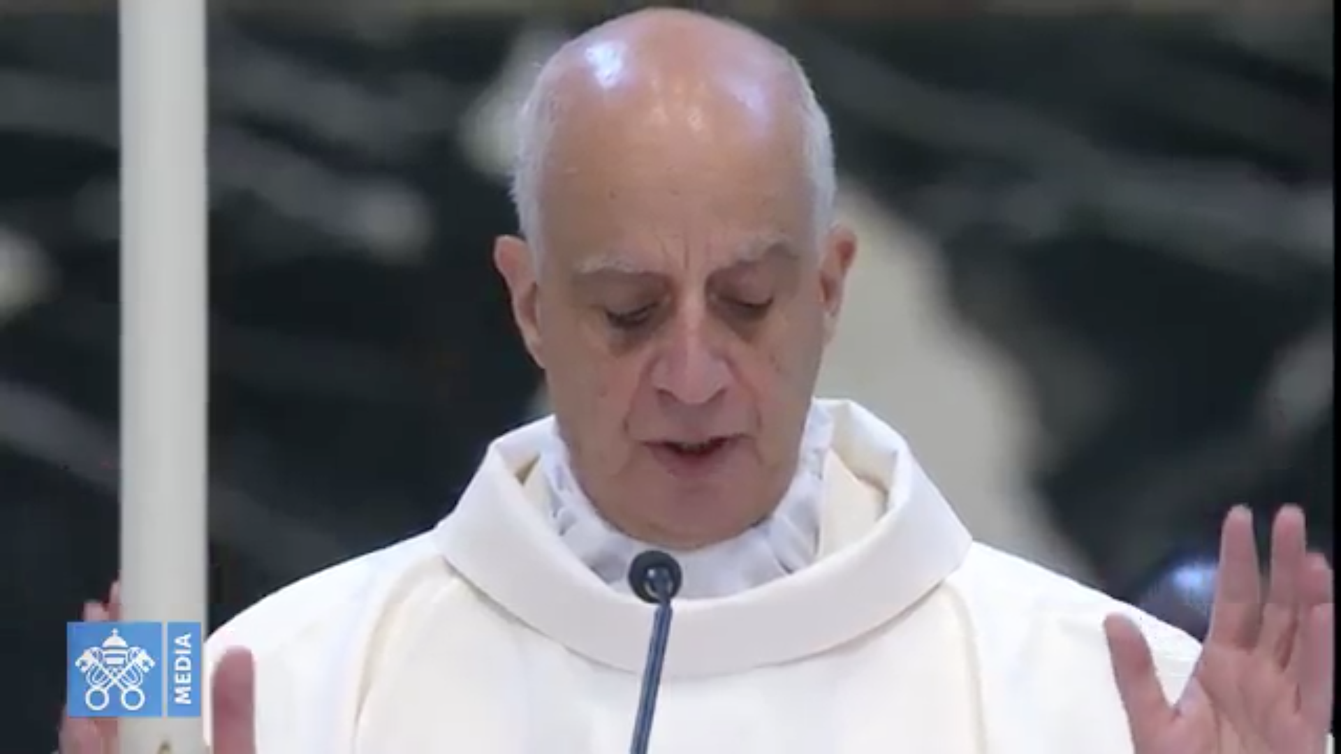 Mgr Rino Fisichella, capture 10/04/2018 @ Vatican Media