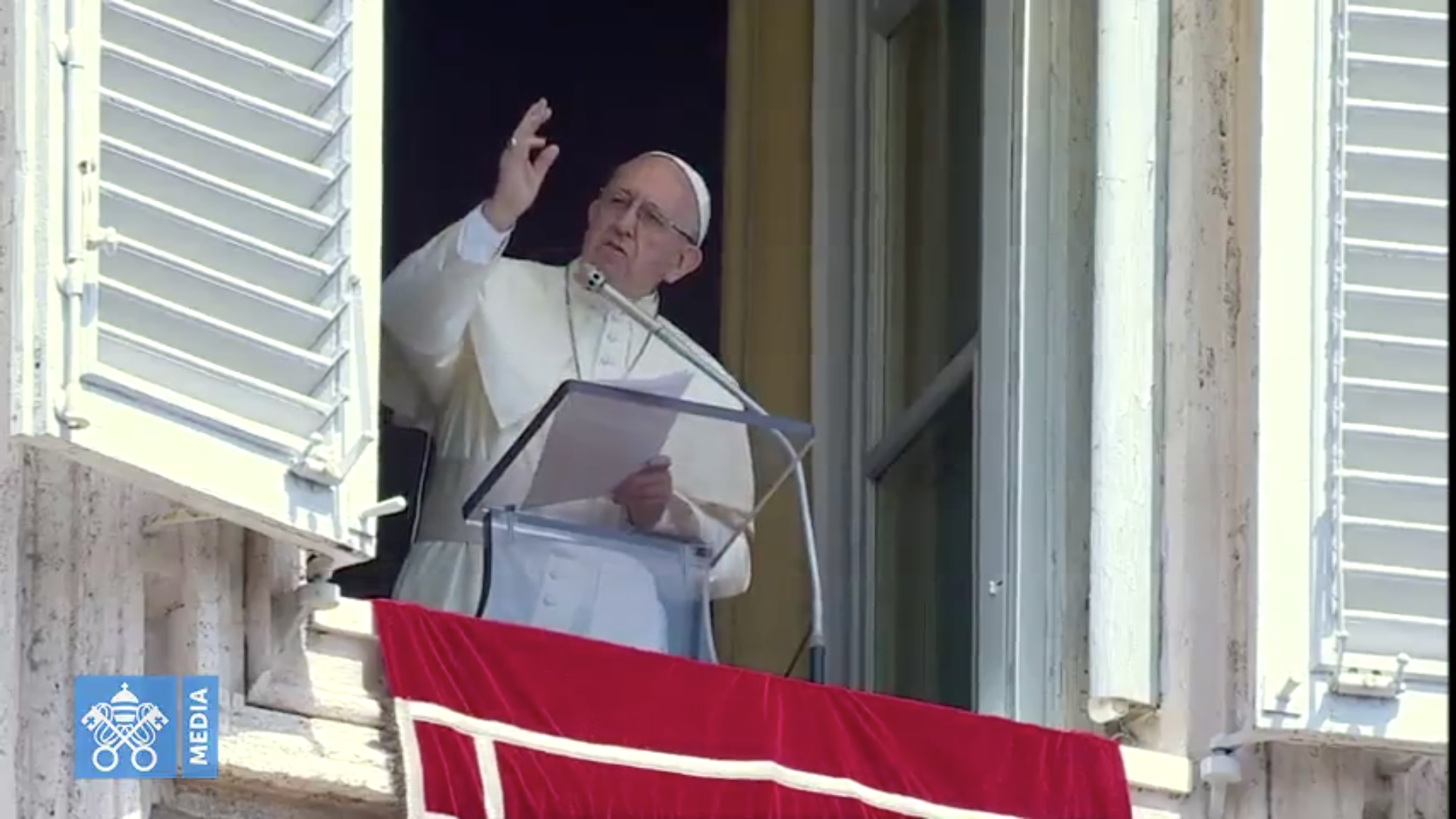 Regina Caeli 29/04/2018 capture @ Vatican Media